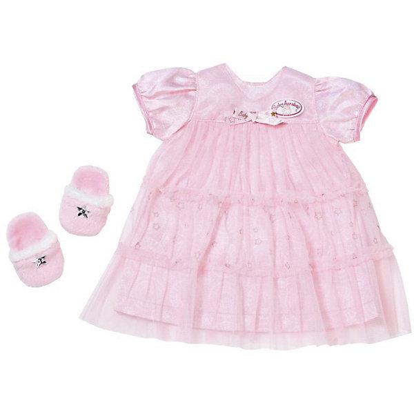 Одежда для куклы Zapf Creation Baby Annabell Спокойной ночи, платье и тапочкиОдежда для кукол<br>Характеристики товара:<br><br>• возраст: от 3 лет;<br>• из чего сделана игрушка (состав): текстиль;<br>• цвет: розовый;<br>• комплект: платье, тапочки;<br>• подходит для кукол высотой: 46 см.;<br>• страна обладатель бренда: Германия.<br><br>Комплект одежды для кукол «Спокойной ночи<br><br>Ширина мм: 391<br>Глубина мм: 238<br>Высота мм: 38<br>Вес г: 127<br>Возраст от месяцев: 36<br>Возраст до месяцев: 60<br>Пол: Женский<br>Возраст: Детский<br>SKU: 5508598