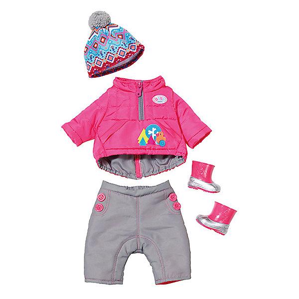 Одежда для куклы Zapf Creation Baby Born Зимние морозыОдежда для кукол<br>Характеристики товара:<br><br>• возраст: от 3 лет;<br>• комплект: теплая куртка на молнии, штанишки-комбинезон, ботинки, и шапка с пумпоном;<br>• из чего сделана игрушка (состав): текстиль, резина, пластик;<br>• подходящая высота куклы: 43 см.;<br>• упаковка: картонная кор<br>Ширина мм: 370; Глубина мм: 325; Высота мм: 83; Вес г: 408; Возраст от месяцев: 36; Возраст до месяцев: 60; Пол: Женский; Возраст: Детский; SKU: 5508613;