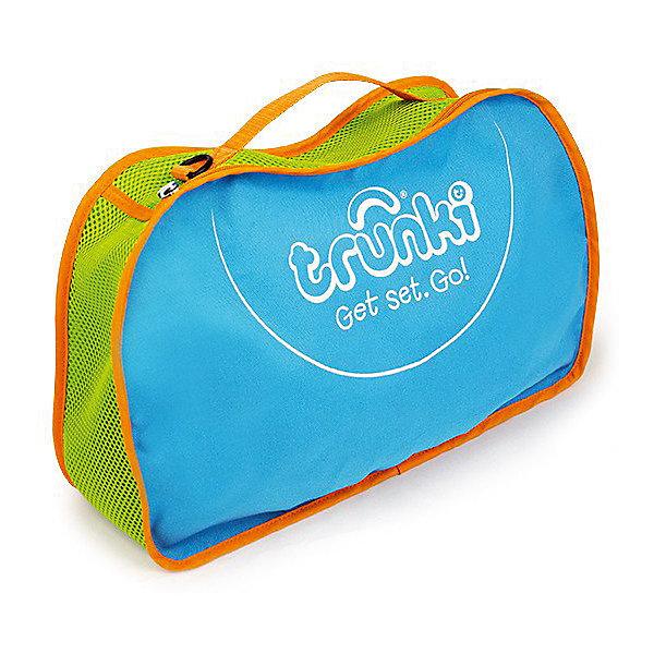 Сумка для хранения, голубаяДорожные сумки и чемоданы<br>Характеристики товара:<br><br>• материал: полиэстер;<br>• в комплекте: сумка, ремень;<br>• размер сумки 42х27х9 см;<br>• вес 300 гр.;<br>• страна производитель: Китай.<br><br>Сумка для хранения Trunki голубая — практичный вариант для путешествий с ребенком, хранения его любимых игрушек дома или для занятий спортом. Сумка выполнена из прочного качественного материала. Она закрывается на надежную молнию. Для переноски предусмотрена тканевая ручка, а также ремешок для ношения на плече. По бокам вставки из перфорированной ткани для вентиляции.<br><br>Сумку для хранения Trunki голубую можно приобрести в нашем интернет-магазине.<br>Ширина мм: 420; Глубина мм: 90; Высота мм: 270; Вес г: 300; Возраст от месяцев: 24; Возраст до месяцев: 2147483647; Пол: Унисекс; Возраст: Детский; SKU: 5509350;