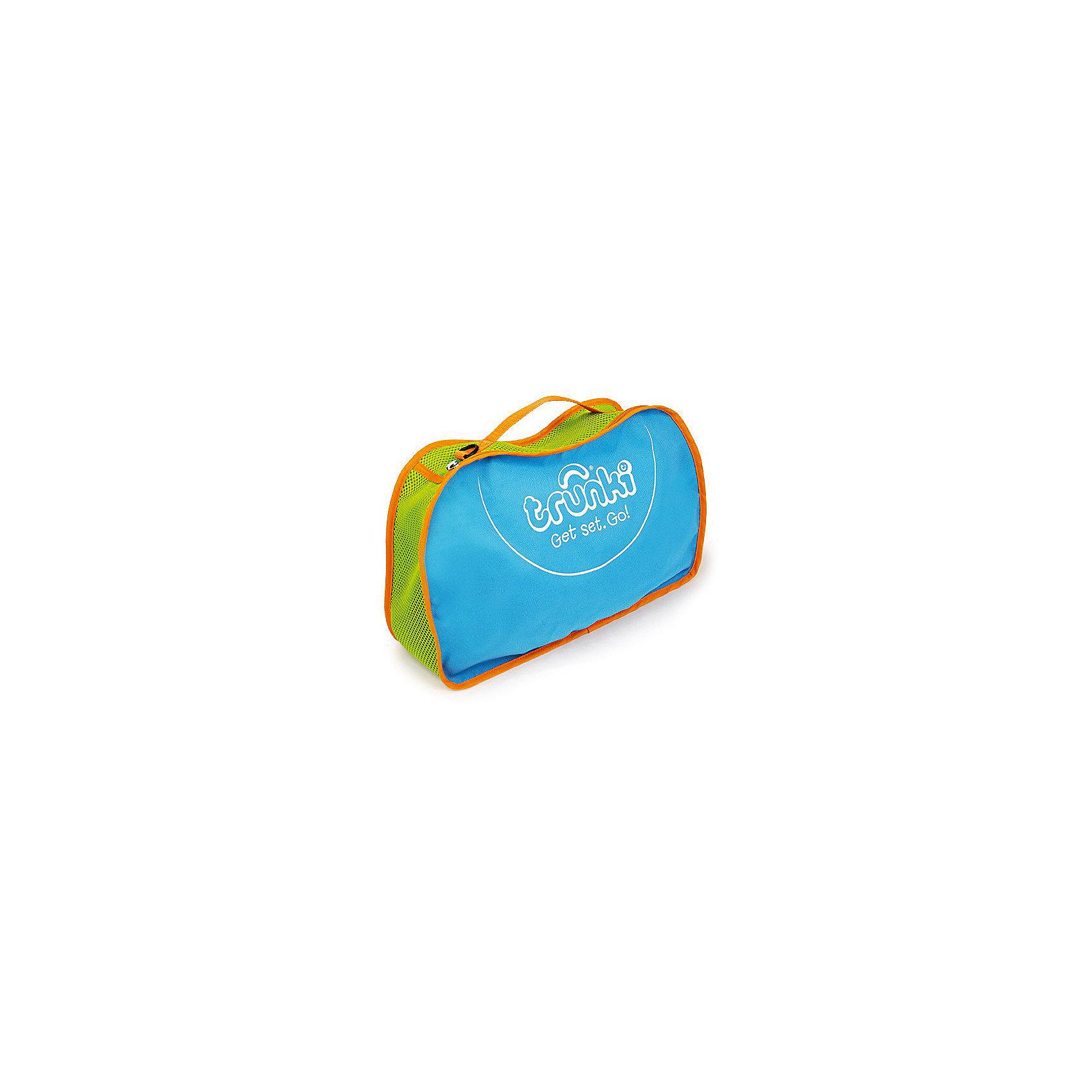 Сумка для хранения, голубаяДорожные сумки и чемоданы<br>Характеристики товара:<br><br>• материал: полиэстер;<br>• в комплекте: сумка, ремень;<br>• размер сумки 42х27х9 см;<br>• вес 300 гр.;<br>• страна производитель: Китай.<br><br>Сумка для хранения Trunki голубая — практичный вариант для путешествий с ребенком, хранения его любимых игрушек дома или для занятий спортом. Сумка выполнена из прочного качественного материала. Она закрывается на надежную молнию. Для переноски предусмотрена тканевая ручка, а также ремешок для ношения на плече. По бокам вставки из перфорированной ткани для вентиляции.<br><br>Сумку для хранения Trunki голубую можно приобрести в нашем интернет-магазине.<br><br>Ширина мм: 420<br>Глубина мм: 90<br>Высота мм: 270<br>Вес г: 300<br>Возраст от месяцев: 24<br>Возраст до месяцев: 2147483647<br>Пол: Унисекс<br>Возраст: Детский<br>SKU: 5509350