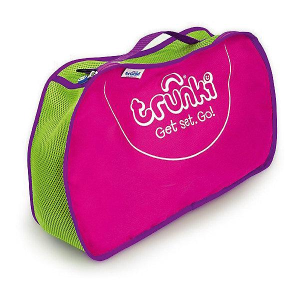 Сумка для хранения, розоваяДорожные сумки и чемоданы<br>Характеристики товара:<br><br>• возраст от 2 лет;<br>• материал: полиэстер;<br>• в комплекте: сумка, ремень;<br>• размер сумки 42х27х9 см;<br>• вес 300 гр.;<br>• страна производитель: Китай.<br><br>Сумка для хранения Trunki розовая — практичный вариант для путешествий с ребенком, хранения его любимых игрушек дома или для занятий спортом. Сумка выполнена из прочного качественного материала. Она закрывается на надежную молнию. Для переноски предусмотрена тканевая ручка, а также ремешок для ношения на плече. По бокам вставки из перфорированной ткани для вентиляции.<br><br>Сумку для хранения Trunki розовую можно приобрести в нашем интернет-магазине.<br>Ширина мм: 420; Глубина мм: 90; Высота мм: 270; Вес г: 300; Возраст от месяцев: 24; Возраст до месяцев: 2147483647; Пол: Унисекс; Возраст: Детский; SKU: 5509351;