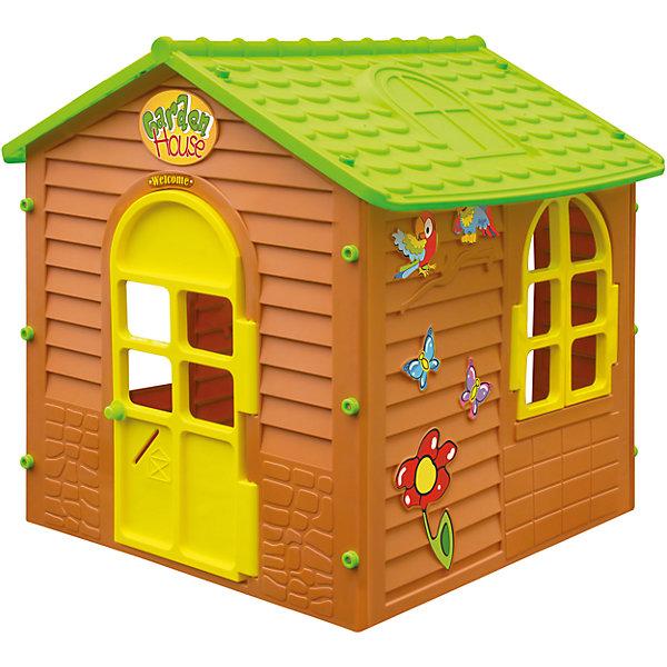 Домик дачный, MochtoysДомики и мебель<br>Домик дачный, Mochtoys.<br><br>Характеристики:<br><br>• Для детей в возрасте: от 1 года<br>• Размер: 122х120х120,5 см.<br>• Конструкция сборная (собирается с помощью пластиковых болтов и гаек)<br>• Материал: пластик<br>• Цвета: зеленый, коричневый, желтый<br>• Размер упаковки: 16х115х123 см.<br>• Вес: 16,9 кг.<br><br>Дачный домик Mochtoys идеально подойдет для игр вашего ребенка на открытом воздухе и в помещении! Размеры домика достаточны, чтобы вместить несколько детей одновременно, что обеспечивает невероятные возможности для совместных игр малышей. В домике есть 3 окна и дверь арочной формы. Одно из окон оборудовано открывающейся рамой. Дверь домика открывается. Над дверью висит табличка Welcom. На крыше имитация черепицы и мансардного окна. Одна из стен домика украшена бабочками, попугайчиками и цветком. Дизайн домика продуман таким образом, что у ребенка создается полное впечатление того, что он находится в настоящем дачном доме. Все детали дома надежно фиксируются между собой и не разбалтываются при активной эксплуатации. Конструкция домика устойчивая и надежная, острые края отсутствуют, поэтому он абсолютно безопасен для детей. Изделие выполнено в соответствии с европейскими стандартами качества из высококачественного, прочного пластика. Материал не выгорает на солнце и морозоустойчив (не боится морозов до -15 градусов). Домик прост в уходе, его можно мыть на даче из шланга проточной водой.<br><br>Домик дачный, Mochtoys можно купить в нашем интернет-магазине.<br><br>Ширина мм: 1220<br>Глубина мм: 1200<br>Высота мм: 1205<br>Вес г: 16900<br>Возраст от месяцев: 12<br>Возраст до месяцев: 120<br>Пол: Унисекс<br>Возраст: Детский<br>SKU: 5510707