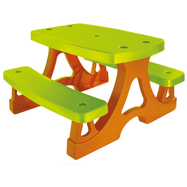 Стол для пикника, MochtoysДомики<br>Стол для пикника, Mochtoys.<br><br>Характеристики:<br><br>• Для детей в возрасте: от 1 года<br>• Размер: 79х78х47см.<br>• Конструкция сборная<br>• Материал: пластик<br>• Цвета: зеленый, коричневый<br>• Размер упаковки: 80х147х21,5 см.<br>• Вес: 5,7 кг.<br><br>Замечательный яркий столик со скамейками подходит для использования, как в помещении, так и на улице. За таким удобным столиком можно не только кушать, но и рисовать, лепить, играть в настольные игры и прекрасно проводить время на свежем воздухе! Он просто и быстро собирается и сразу готов к использованию. В разобранном виде столик практически не занимает места и помещается в багажник любого автомобиля. Данная модель выполнена из гипоаллергенного пластика ярких цветов. Конструкция столика устойчивая и надежная, острые края отсутствуют, поэтому он абсолютно безопасен для детей.<br><br>Стол для пикника, Mochtoys можно купить в нашем интернет-магазине<br>Ширина мм: 790; Глубина мм: 780; Высота мм: 470; Вес г: 5700; Возраст от месяцев: 12; Возраст до месяцев: 120; Пол: Унисекс; Возраст: Детский; SKU: 5510712;
