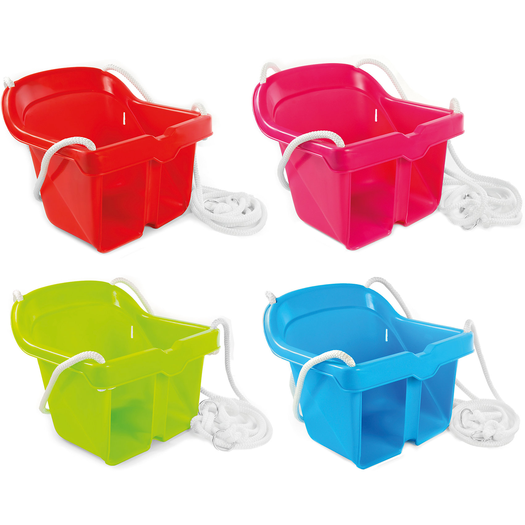 Качели подвесные голубые, MochtoysКачели пригодятся для игры дома и на улице.Качели изготовлены из качественного яркого пластика, с загнутыми краями, которые защищают нежную кожу ребенка от натирания. Детские качели снабжены защитным ограничителем от выпадения и высокой спинкой для удобного сидения. Веревка идет в комплекте.<br><br>Ширина мм: 330<br>Глубина мм: 325<br>Высота мм: 280<br>Вес г: 21122<br>Возраст от месяцев: 12<br>Возраст до месяцев: 84<br>Пол: Унисекс<br>Возраст: Детский<br>SKU: 5510722