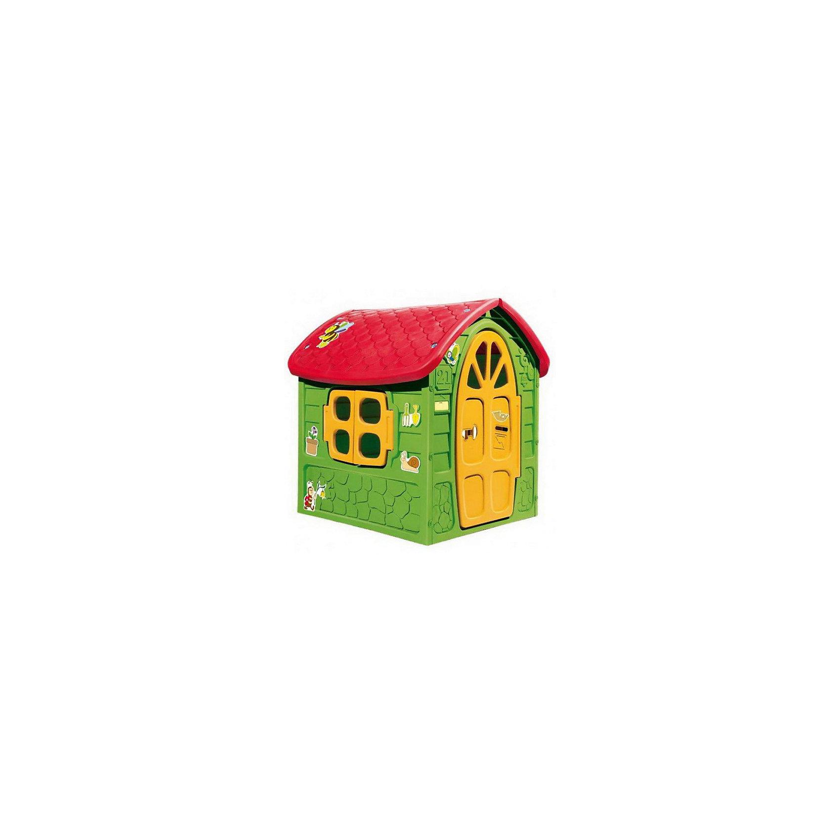 Домик деревенский, MacyszynДомики и мебель<br>Домик деревенский, Macyszyn.<br><br>Характеристики:<br><br>• Для детей в возрасте: от 2 лет<br>• Размер домика: 113х111х120 см.<br>• Конструкция сборная (собирается с помощью пластиковых болтов и гаек)<br>• Материал: пластик<br>• Цвета: зеленый, желтый, красный<br>• Размер упаковки: 115х12,5х141 см.<br>• Вес: 12,5 кг.<br><br>Деревенский домик, Mochtoys идеально подойдет для игр вашего ребенка на открытом воздухе и в помещении! Небольшой и очень уютный домик создаст для ребенка собственный мир, оборудованный по детским законам и только лично самим ребенком. В домике есть 2 окна с открывающимися рамами, дверь, круглое большое окошко, маленькое отверстие, имитирующее скворечник и отверстие для входа домашних животных. Дверь домика открывается. Домик украшен яркими цветными стикерами. На крыше имитация черепицы. Дизайн домика продуман таким образом, что у ребенка создается полное впечатление того, что он находится в настоящем деревенском доме. Все детали дома надежно фиксируются между собой и не разбалтываются при активной эксплуатации. Конструкция домика устойчивая и надежная, острые края отсутствуют, поэтому он абсолютно безопасен для детей. Изделие выполнено в соответствии с европейскими стандартами качества из высококачественного, прочного пластика. Материал не выгорает на солнце и морозоустойчив (не боится морозов до -15 градусов). Домик прост в уходе, его можно мыть на даче из шланга проточной водой.<br><br>Домик деревенский, Macyszyn можно купить в нашем интернет-магазине.<br><br>Ширина мм: 1130<br>Глубина мм: 1110<br>Высота мм: 1200<br>Вес г: 12500<br>Возраст от месяцев: 24<br>Возраст до месяцев: 84<br>Пол: Унисекс<br>Возраст: Детский<br>SKU: 5510726