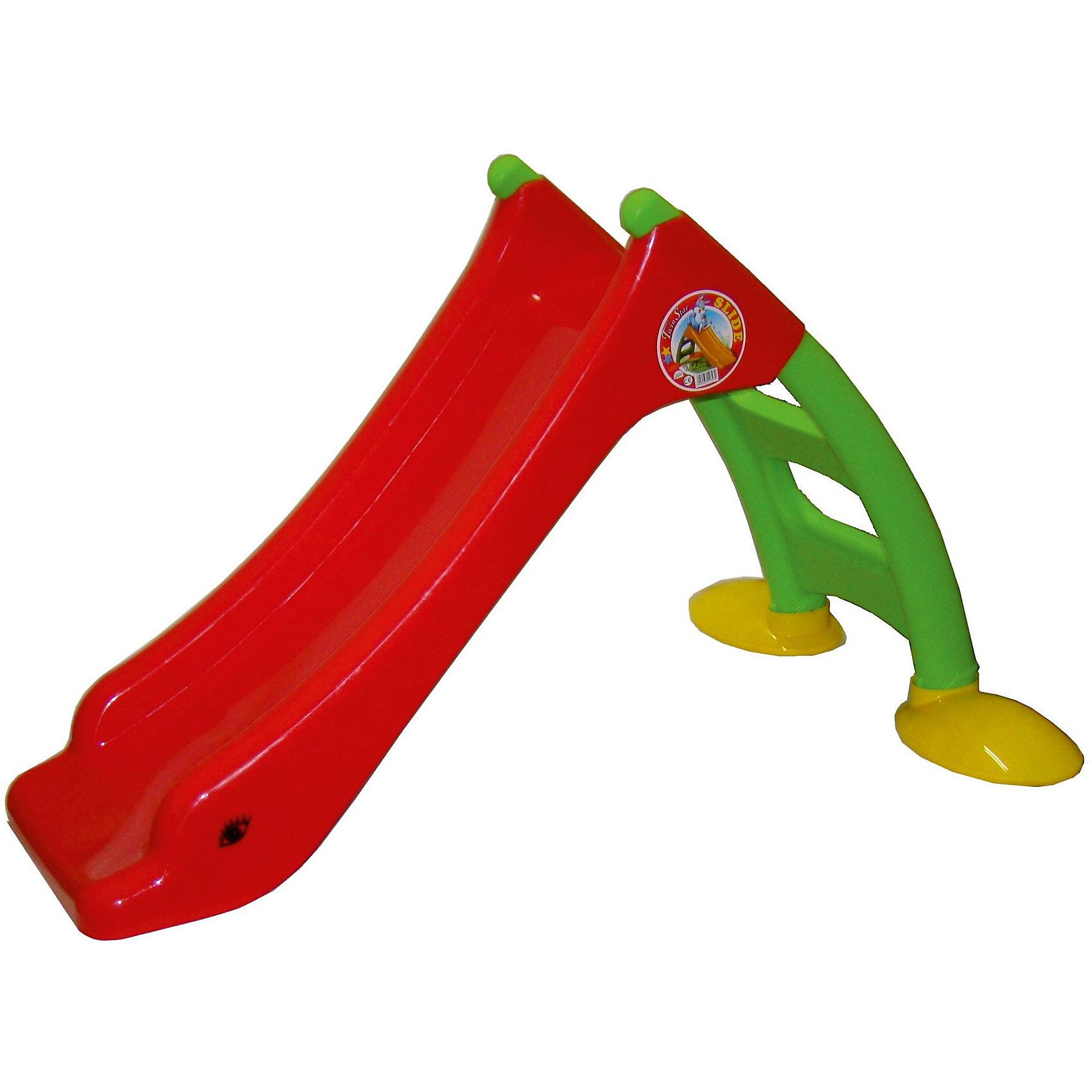 Горка малая, MacyszynГорки<br>Горка малая, Macyszyn.<br><br>Характеристики:<br><br>• Для детей в возрасте: от 2 лет<br>• Максимальная нагрузка: 20 кг.<br>• Длина спуска: 85 см.<br>• Размер: 130х85х76 см.<br>• Материал: пластик<br>• Сборная конструкция<br>• Цвет: красный, зеленый, желтый<br>• Размер упаковки: 41х23х113 см.<br>• Вес в упаковке: 5,5 кг.<br><br>Горка Macyszyn - мечта любого ребенка. С помощью такой горки можно создать веселый детский уголок в комнате. Горка компактная, не занимает много места, при этом она очень яркая и украсит собой интерьер комнаты малыша. Малыши будут легко подниматься на горку по лестнице с безопасными нескользящими степенями, а затем с задорными улыбками катиться вниз. Спуск у горки широкий, плавный без перепадов, с достаточно высокими бортиками для безопасности. Основание горки широкое и устойчивое, не скользит. Горка изготовлена из высококачественного пластика, что гарантирует длительный срок эксплуатации. Она не деформируется от перепада температур, поэтому может использоваться на улице. Горка легко собирается, фиксируется пластиковыми заглушками, дополнительный инструмент не требуется. При установке горки не требуется дополнительных креплений. Горка компактна в сложенном виде для хранения и транспортировки. Изделие полностью соответствует европейским нормам качества и безопасности.<br><br>Горку малую, Macyszyn можно купить в нашем интернет-магазине.<br><br>Ширина мм: 1300<br>Глубина мм: 850<br>Высота мм: 760<br>Вес г: 5500<br>Возраст от месяцев: 24<br>Возраст до месяцев: 84<br>Пол: Унисекс<br>Возраст: Детский<br>SKU: 5510728