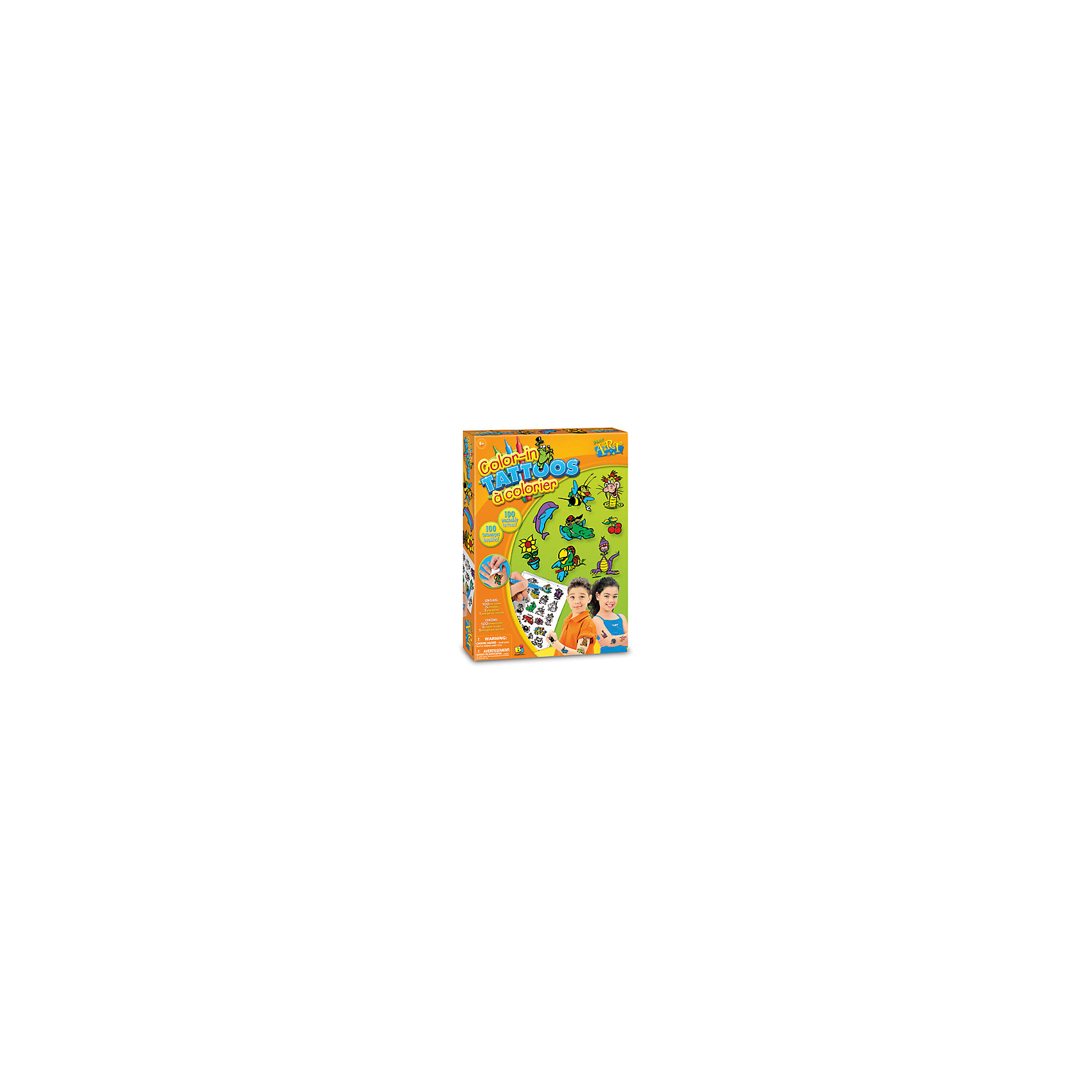 Цветные переводные татуировкиПереводные тату<br><br><br>Ширина мм: 297<br>Глубина мм: 40<br>Высота мм: 213<br>Вес г: 184<br>Возраст от месяцев: 60<br>Возраст до месяцев: 168<br>Пол: Унисекс<br>Возраст: Детский<br>SKU: 5511154
