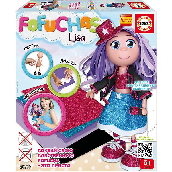 Фофуча Лиза - набор для творчества в виде куклыШитьё<br>Характеристики товара:<br><br>• возраст: от 6 лет;<br>• высота куклы: 30 см.;<br>• материал: картон, пластик, EVA;<br>• упаковка: картонная каробка;<br>• вес: 660 гр.;<br>• бренд, страна бренда: Educa (Эдука), Испания;<br>• страна-производитель: Испания.<br>                                                                                                                                                                                                                                                                                                                       <br>Набор для творчества «Кукла Фофуча Лиза» включает в себя сборное пластиковое тело, бумагу EVA разных цветов, двухсторонний скотч, схемы, картонные детали, самоклеящиеся глаза и рот, и подробную инструкцию на русском языке. Все материалы безопасны и высококачественны. <br><br>Набор поможет маленьким рукодельницам самостоятельно создать очаровательную куколку, а также съемный наряд для нее. Набор для развития творчества разработан специально для девочек, с учётом их вкусов, пожеланий и интересов.<br><br>Несложный процесс создания куклы принесет ребенку удовольствие, поможет развить мелкую моторику, творческое мышление и воображение, а самодельная игрушка обязательно порадует ребенку, а так же станет отличным подарком друзьям и близким.<br><br>Набор для творчества «Кукла Фофуча Лиза», 30 см.,  Educa (Эдука) можно купить в нашем интернет-магазине.<br>Ширина мм: 335; Глубина мм: 72; Высота мм: 295; Вес г: 650; Возраст от месяцев: 72; Возраст до месяцев: 168; Пол: Женский; Возраст: Детский; SKU: 5511157;
