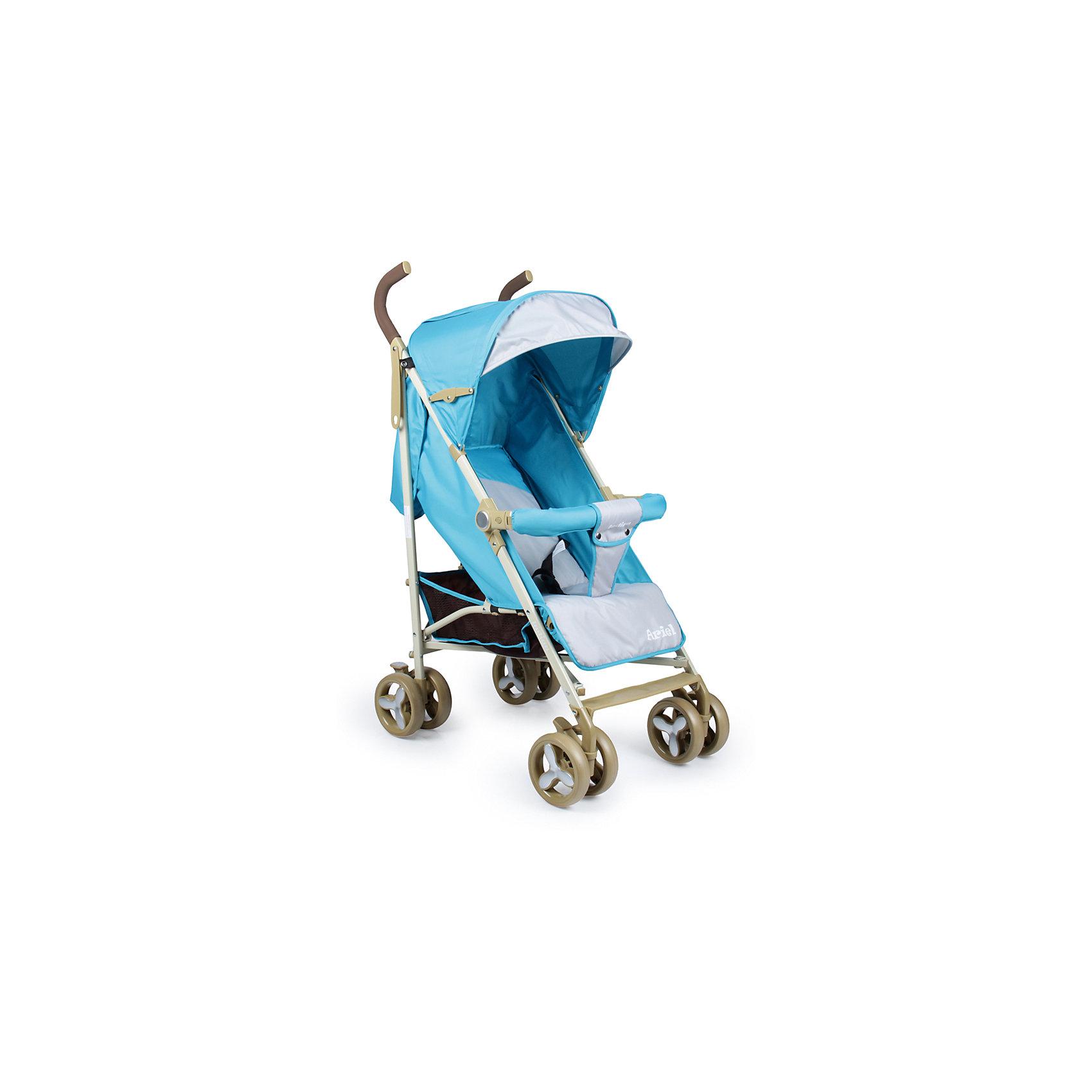 Коляска-трость Indigo Ariel, бирюзаНедорогие коляски<br>Характеристики коляски-трости Indigo Ariel<br><br>Прогулочный блок:<br><br>• регулируемая спинка: положение «сидя», «полусидя», «полулежа», угол наклона 85-165 градусов;<br>• 3-х точечные ремни безопасности;<br>• смотровое сетчатое окошко под клапаном на липучке; <br>• капюшон оснащен солнцезащитным козырьком, имеется дополнительная сетчатая вставка;<br>• кармашек для мелочей, закрывается клапаном;<br>• бампер обтянут тканью, отводится в сторону;<br>• имеется разделитель для ножек;<br>• чехол на ножки позволяет малышу согреться в прохладную погоду.<br><br>Рама коляски: <br><br>• сдвоенные колеса: плавающие передние с блокировкой, задние оснащены тормозом;<br>• механизм складывания: трость;<br>• ширина колесной базы: 49 см;<br>• диаметр колес: 15 см;<br>• длина спального места: 76 см;<br>• ширина сиденья: 34,5 см;<br>• глубина сиденья: 20 см.<br><br>Размер коляски: 84х49х105 см<br>Размер коляски в сложенном виде: 98х14х17,5 см<br>Вес коляски: 7,7 кг<br>Вес в упаковке: 8 кг<br><br>Коляску-трость Ariel, Indigo, бирюза можно купить в нашем интернет-магазине.<br><br>Ширина мм: 980<br>Глубина мм: 140<br>Высота мм: 175<br>Вес г: 7700<br>Возраст от месяцев: 12<br>Возраст до месяцев: 36<br>Пол: Унисекс<br>Возраст: Детский<br>SKU: 5511814