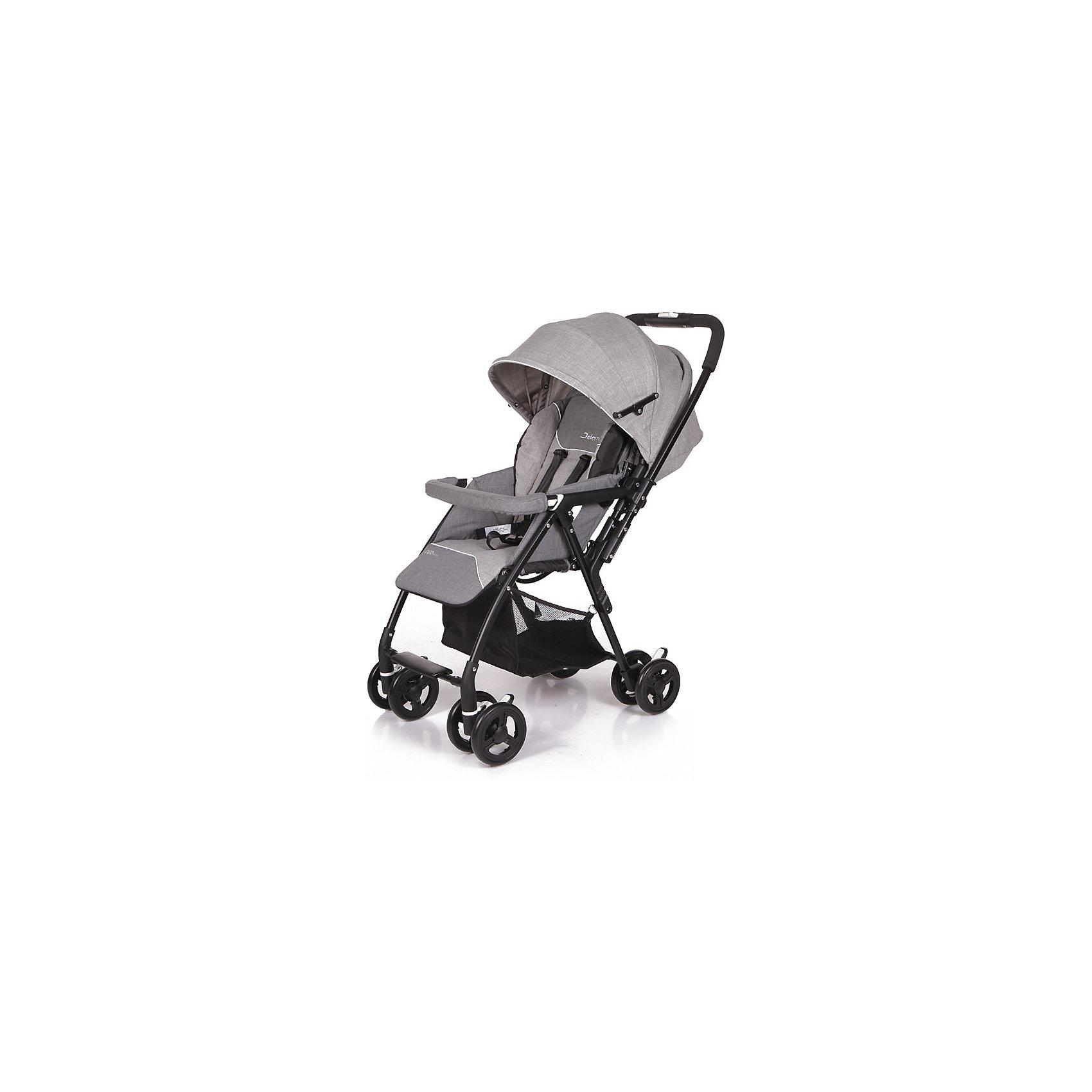 Прогулочная коляска Jetem Neo Plus, серыйПрогулочные коляски<br>Характеристики прогулочной коляски Neo Plus Jetem<br><br>Прогулочный блок:<br><br>• регулируемая спинка коляски, положение «лежа»;<br>• просторное спальное место;<br>• регулируемая подножка, 2 положения;<br>• глубокий регулируемый капюшон, надежно защищает от солнечных лучей и осадков;<br>• на капюшоне имеется сетчатое смотровое окошко под клапаном;<br>• 5-ти точечные ремни безопасности;<br>• съемный защитный бампер с мягкой накладкой;<br>• чехол на ножки защищает ребенка в холодное время года;<br>• материал: пластик, полиэстер;<br>• длина спального места: 80 см;<br>• ширина сиденья: 33 см.<br><br>Рама коляски:<br><br>• перекидная ручка коляски;<br>• сдвоенные колеса коляски;<br>• передние поворотные колеса с блокировкой;<br>• задний стояночный тормоз на всех колесах;<br>• механизм складывания коляски: книжка;<br>• коляска складывается одной рукой;<br>• устойчиво стоит в сложенном виде в вертикальном положении;<br>• материал рамы: алюминий, колеса - полиуретан;<br>• высота ручки: 97 см;<br>• ширина колесной базы: 48,5 см;<br>• диаметр колес: 15,3 см;<br>• размер корзины для покупок: 30,5х30,5х24 см.<br><br>Размер коляски: 86х48,5х97 см<br>Размер коляски в сложенном виде: 36х48,5х90,5 см<br>Вес коляски: 6,7 кг<br>Размер упаковки: 87х46х29 см<br>Вес в упаковке: 8,2 кг<br><br>Легкая и маневренная прогулочная коляска Jetem Neo Plus предназначена для весенне-летнего периода и путешествий с ребенком. Перекидная ручка коляски Neo Plus позволяет менять направление движения коляски без особых трудностей. Ребенок может сидеть в прогулочном блоке лицом к маме или лицом к окружающему миру. Большой капюшон со смотровым окном опускается почти до бампера. Высота спинки плавно регулируется с помощью ремней. Коляску можно легко сложить одной рукой.<br> <br>Покупка коляски Neo Plus Jetem – это верное решение современных мам, которые ценят комфорт малыша, а также его удобство!<br><br>Прогулочную коляску Neo Plus, Jetem, ц