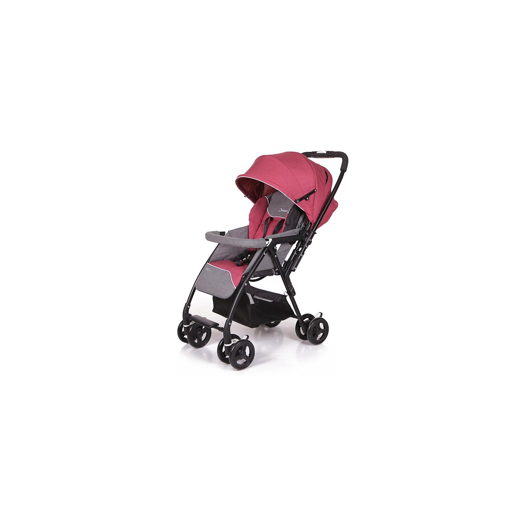 Прогулочная коляска Jetem Neo Plus, малиновыйПрогулочные коляски<br>Характеристики прогулочной коляски Neo Plus Jetem<br><br>Прогулочный блок:<br><br>• регулируемая спинка коляски, положение «лежа»;<br>• просторное спальное место;<br>• регулируемая подножка, 2 положения;<br>• глубокий регулируемый капюшон, надежно защищает от солнечных лучей и осадков;<br>• на капюшоне имеется сетчатое смотровое окошко под клапаном;<br>• 5-ти точечные ремни безопасности;<br>• съемный защитный бампер с мягкой накладкой;<br>• чехол на ножки защищает ребенка в холодное время года;<br>• материал: пластик, полиэстер;<br>• длина спального места: 80 см;<br>• ширина сиденья: 33 см.<br><br>Рама коляски:<br><br>• перекидная ручка коляски;<br>• сдвоенные колеса коляски;<br>• передние поворотные колеса с блокировкой;<br>• задний стояночный тормоз на всех колесах;<br>• механизм складывания коляски: книжка;<br>• коляска складывается одной рукой;<br>• устойчиво стоит в сложенном виде в вертикальном положении;<br>• материал рамы: алюминий, колеса - полиуретан;<br>• высота ручки: 97 см;<br>• ширина колесной базы: 48,5 см;<br>• диаметр колес: 15,3 см;<br>• размер корзины для покупок: 30,5х30,5х24 см.<br><br>Размер коляски: 86х48,5х97 см<br>Размер коляски в сложенном виде: 36х48,5х90,5 см<br>Вес коляски: 6,7 кг<br>Размер упаковки: 87х46х29 см<br>Вес в упаковке: 8,2 кг<br><br>Легкая и маневренная прогулочная коляска Jetem Neo Plus предназначена для весенне-летнего периода и путешествий с ребенком. Перекидная ручка коляски Neo Plus позволяет менять направление движения коляски без особых трудностей. Ребенок может сидеть в прогулочном блоке лицом к маме или лицом к окружающему миру. Большой капюшон со смотровым окном опускается почти до бампера. Высота спинки плавно регулируется с помощью ремней. Коляску можно легко сложить одной рукой.<br> <br>Покупка коляски Neo Plus Jetem – это верное решение современных мам, которые ценят комфорт малыша, а также его удобство!<br><br>Прогулочную коляску Neo Plus, Jete