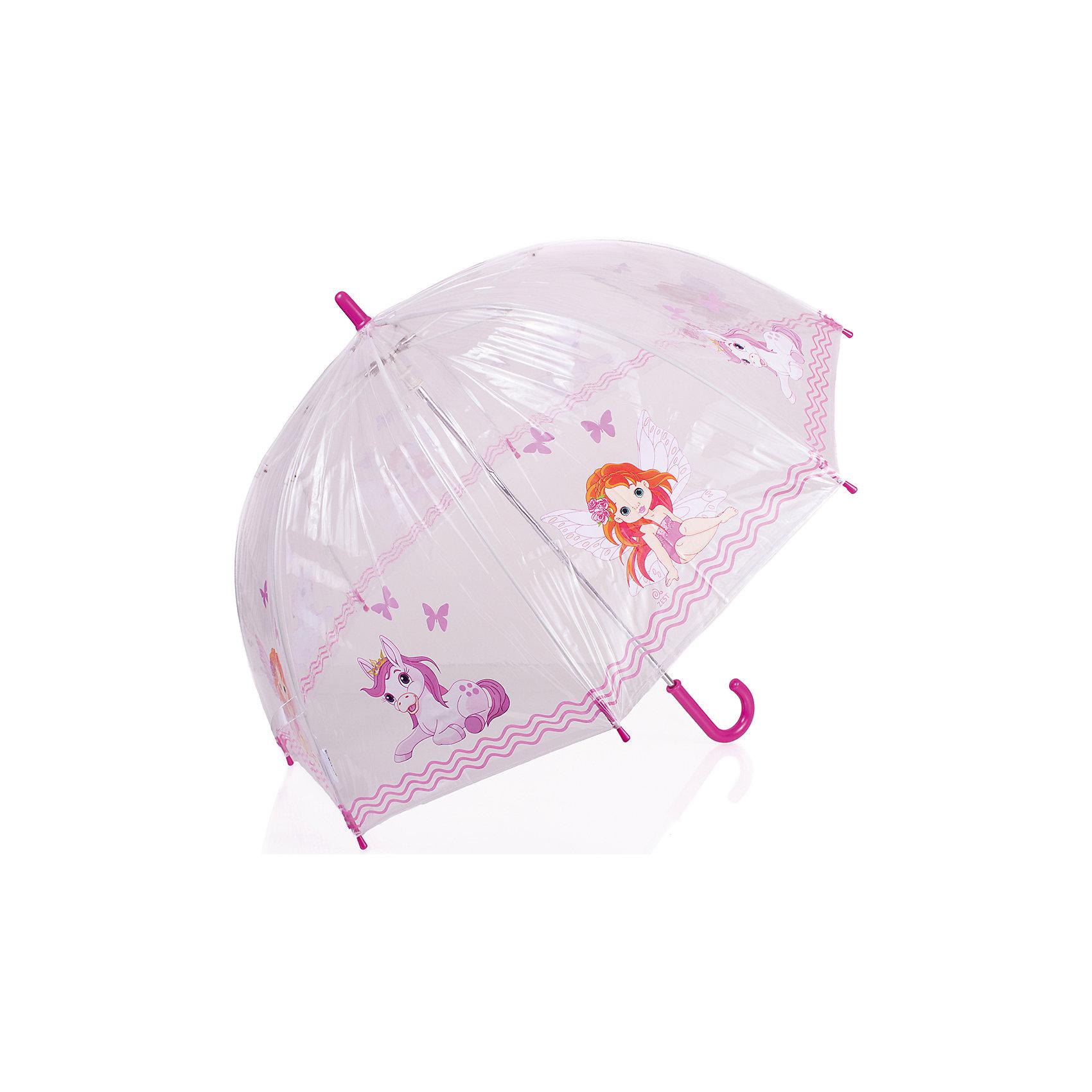 Зонт-трость, детский, рисунок Розовый пониЗонт детский Zest 51510, трость, механика, 8 спиц, диаметр  купола 74 см, материал купола поливинил (прозрачный), ручка зонта из пластика, материал каркаса - сталь. Концы спиц зонтика прикрыты специальными колпачками. ВЕТРОУСТОЙЧИВАЯ КОНСТРУКЦИЯ. Внимание! В сильный ветер не эксплуатировать! Зонт может сломаться. На купол нанесен легкий слой талька (от склеевания при хранении). Новый зонт имеет специфический запах поливинила, который выветривается через 3-5 дней. Сушить и хранить вдали от источников тепла, гарантия 6 месяцев, срок службы 5 лет.<br><br>Ширина мм: 690<br>Глубина мм: 9999<br>Высота мм: 690<br>Вес г: 280<br>Возраст от месяцев: 36<br>Возраст до месяцев: 2147483647<br>Пол: Унисекс<br>Возраст: Детский<br>SKU: 5511979