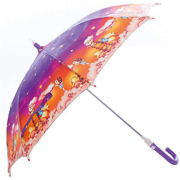 Зонт-трость, детский, Zest, со светодиодами, рисунок Звездное небоЗонты детские<br>Красочный детский зонтик Zest трость, механика, 8 спиц, купол 72 см, материал купола полиэстер, ручка зонта из пластика, материал каркаса - сталь. Концы спиц зонтика прикрыты специальными колпачками. ВЕТРОУСТОЙЧИВАЯ КОНСТРУКЦИЯ. Внимание! В сильный ветер не эксплуатировать! Зонт может сломаться. Гарантия 6 месяцев, срок службы 5 лет.<br>Ширина мм: 690; Глубина мм: 0; Высота мм: 0; Вес г: 280; Цвет: фиолетовый; Возраст от месяцев: 36; Возраст до месяцев: 2147483647; Пол: Унисекс; Возраст: Детский; SKU: 5511981;