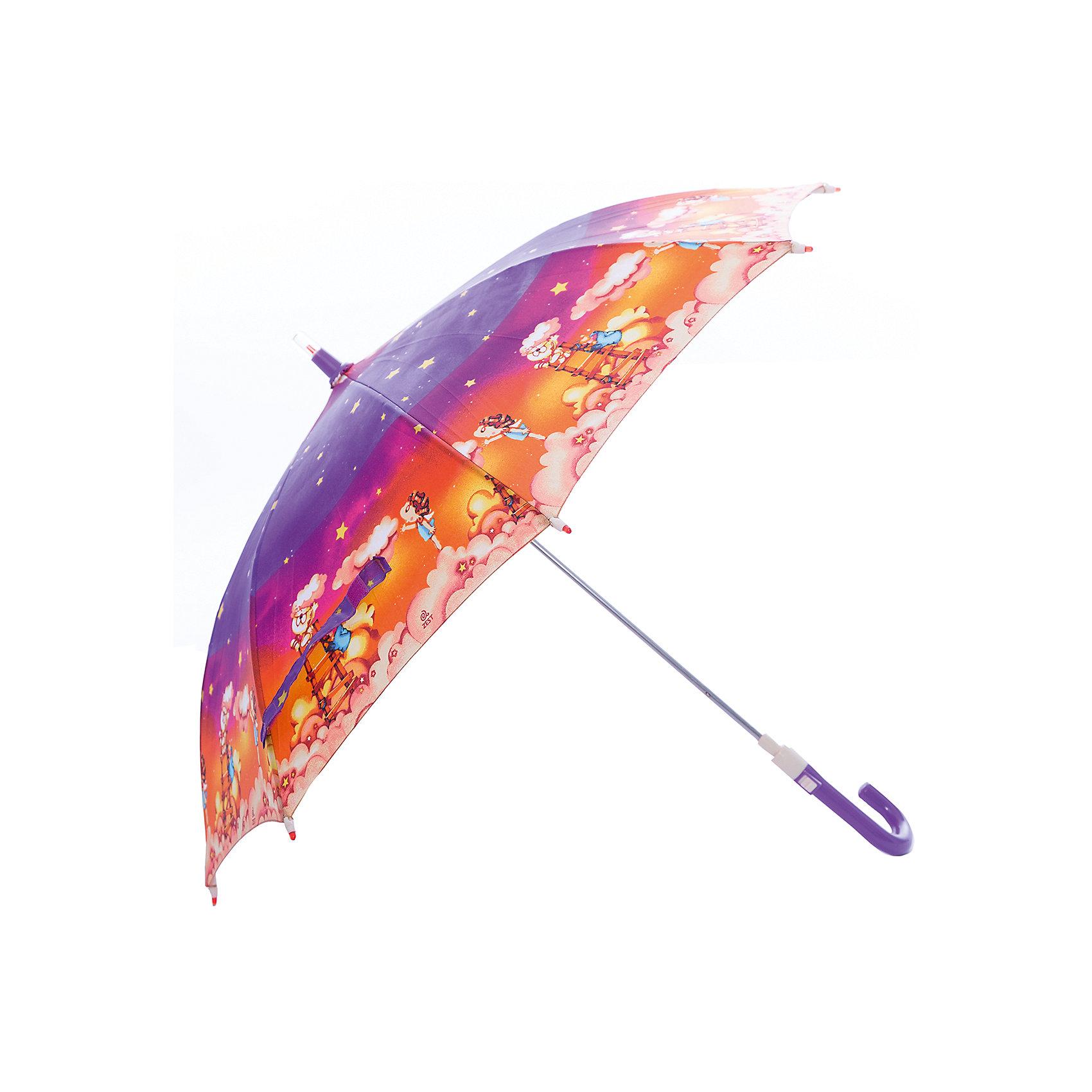 Зонт-трость, детский, рисунок Звездное небо, без светодиодовЗонты детские<br>Красочный детский зонтик Zest трость, механика, 8 спиц, купол 72 см, материал купола полиэстер, ручка зонта из пластика, материал каркаса - сталь. Концы спиц зонтика прикрыты специальными колпачками. ВЕТРОУСТОЙЧИВАЯ КОНСТРУКЦИЯ. Внимание! В сильный ветер не эксплуатировать! Зонт может сломаться. Гарантия 6 месяцев, срок службы 5 лет.<br><br>Ширина мм: 690<br>Глубина мм: 0<br>Высота мм: 0<br>Вес г: 280<br>Возраст от месяцев: 36<br>Возраст до месяцев: 2147483647<br>Пол: Унисекс<br>Возраст: Детский<br>SKU: 5511981