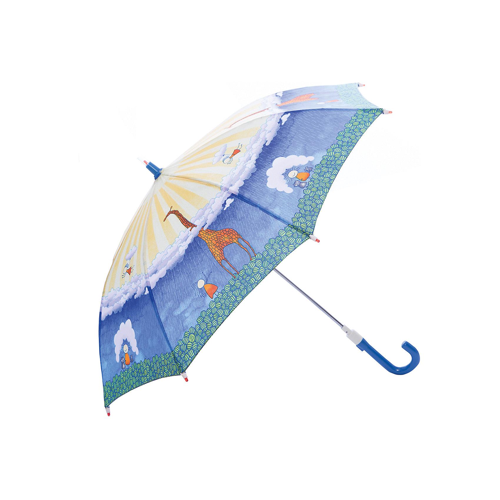 Зонт-трость, детский, рисунок Жираф со светодиодамиЗонты детские<br>Красочный детский зонтик Zest трость, механика, 8 спиц, купол 72 см, материал купола полиэстер, ручка зонта из пластика, материал каркаса - сталь. Концы спиц зонтика прикрыты специальными колпачками. ВЕТРОУСТОЙЧИВАЯ КОНСТРУКЦИЯ. Внимание! В сильный ветер не эксплуатировать! Зонт может сломаться. Гарантия 6 месяцев, срок службы 5 лет.<br><br>Ширина мм: 690<br>Глубина мм: 0<br>Высота мм: 0<br>Вес г: 280<br>Возраст от месяцев: 36<br>Возраст до месяцев: 2147483647<br>Пол: Унисекс<br>Возраст: Детский<br>SKU: 5511983