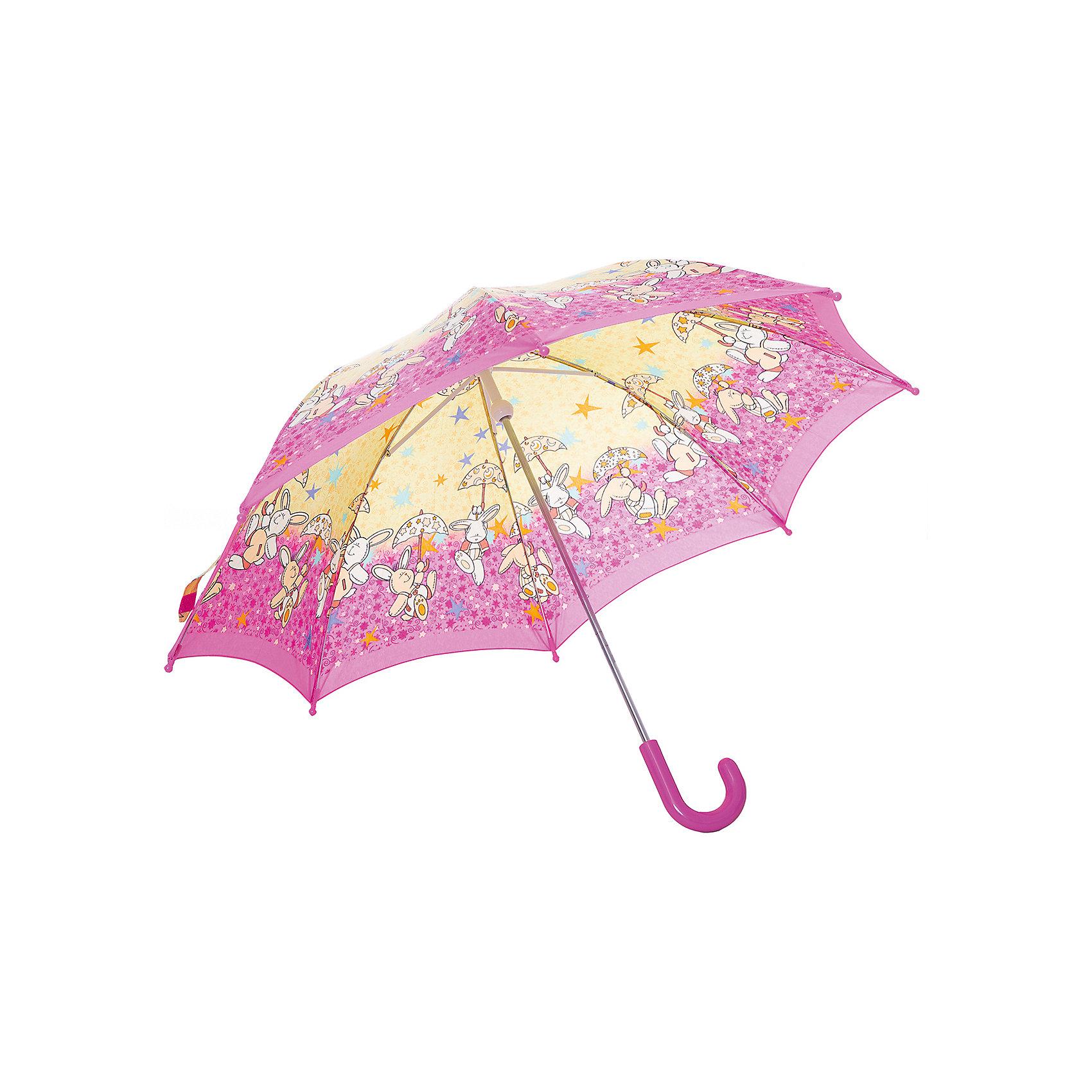 Зонт-трость, детский, рисунок КроликиКрасочный детский зонтик Zest 21551  со светодиодами (на кончиках спиц и на куполе в центре), трость, механика, 8 спиц, купол 78 см, материал купола полиэстер, ручка зонта из пластика, материал каркаса - сталь. Концы спиц зонтика прикрыты специальными колпачками-лампочками. ВЕТРОУСТОЙЧИВАЯ КОНСТРУКЦИЯ. Внимание! В сильный ветер не эксплуатировать! Зонт может сломаться. Гарантия 6 месяцев, срок службы 5 лет. Необходимы 2 батарейки типа ААА<br><br>Ширина мм: 680<br>Глубина мм: 9999<br>Высота мм: 680<br>Вес г: 310<br>Возраст от месяцев: 36<br>Возраст до месяцев: 2147483647<br>Пол: Унисекс<br>Возраст: Детский<br>SKU: 5511984