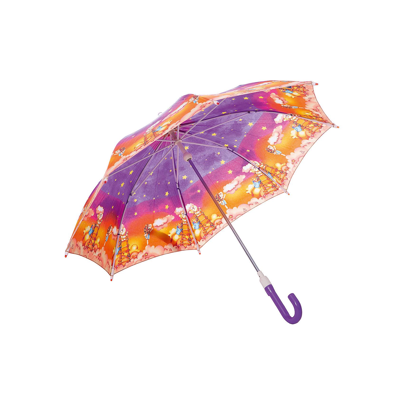 Зонт-трость, детскийЗонты детские<br>Красочный детский зонтик Zest 21551  со светодиодами (на кончиках спиц и на куполе в центре), трость, механика, 8 спиц, купол 78 см, материал купола полиэстер, ручка зонта из пластика, материал каркаса - сталь. Концы спиц зонтика прикрыты специальными колпачками-лампочками. ВЕТРОУСТОЙЧИВАЯ КОНСТРУКЦИЯ. Внимание! В сильный ветер не эксплуатировать! Зонт может сломаться. Гарантия 6 месяцев, срок службы 5 лет. Необходимы 2 батарейки типа ААА<br><br>Ширина мм: 690<br>Глубина мм: 0<br>Высота мм: 0<br>Вес г: 280<br>Возраст от месяцев: 36<br>Возраст до месяцев: 2147483647<br>Пол: Унисекс<br>Возраст: Детский<br>SKU: 5511985
