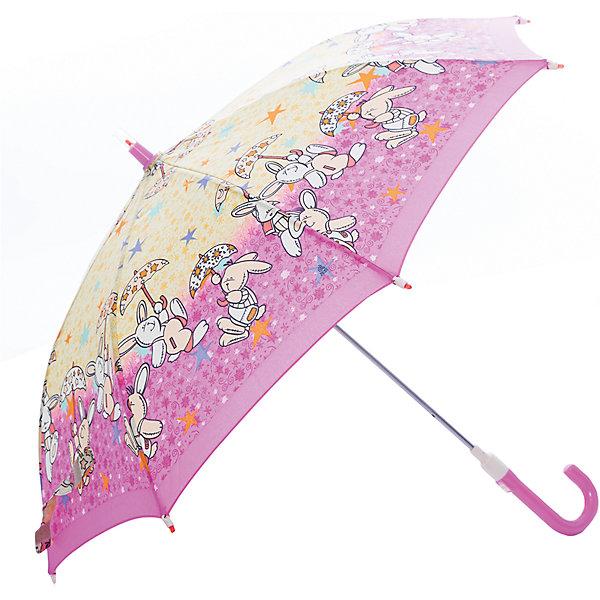 Зонт-трость, детский, розово-желтый, со светодиодамиЗонты детские<br>Красочный детский зонтик Zest трость, механика, 8 спиц, купол 72 см, материал купола полиэстер, ручка зонта из пластика, материал каркаса - сталь. Концы спиц зонтика прикрыты специальными колпачками. ВЕТРОУСТОЙЧИВАЯ КОНСТРУКЦИЯ. Внимание! В сильный ветер не эксплуатировать! Зонт может сломаться. Гарантия 6 месяцев, срок службы 5 лет.<br>Ширина мм: 680; Глубина мм: 0; Высота мм: 0; Вес г: 310; Цвет: rosa/gelb; Возраст от месяцев: 36; Возраст до месяцев: 2147483647; Пол: Унисекс; Возраст: Детский; SKU: 5511990;