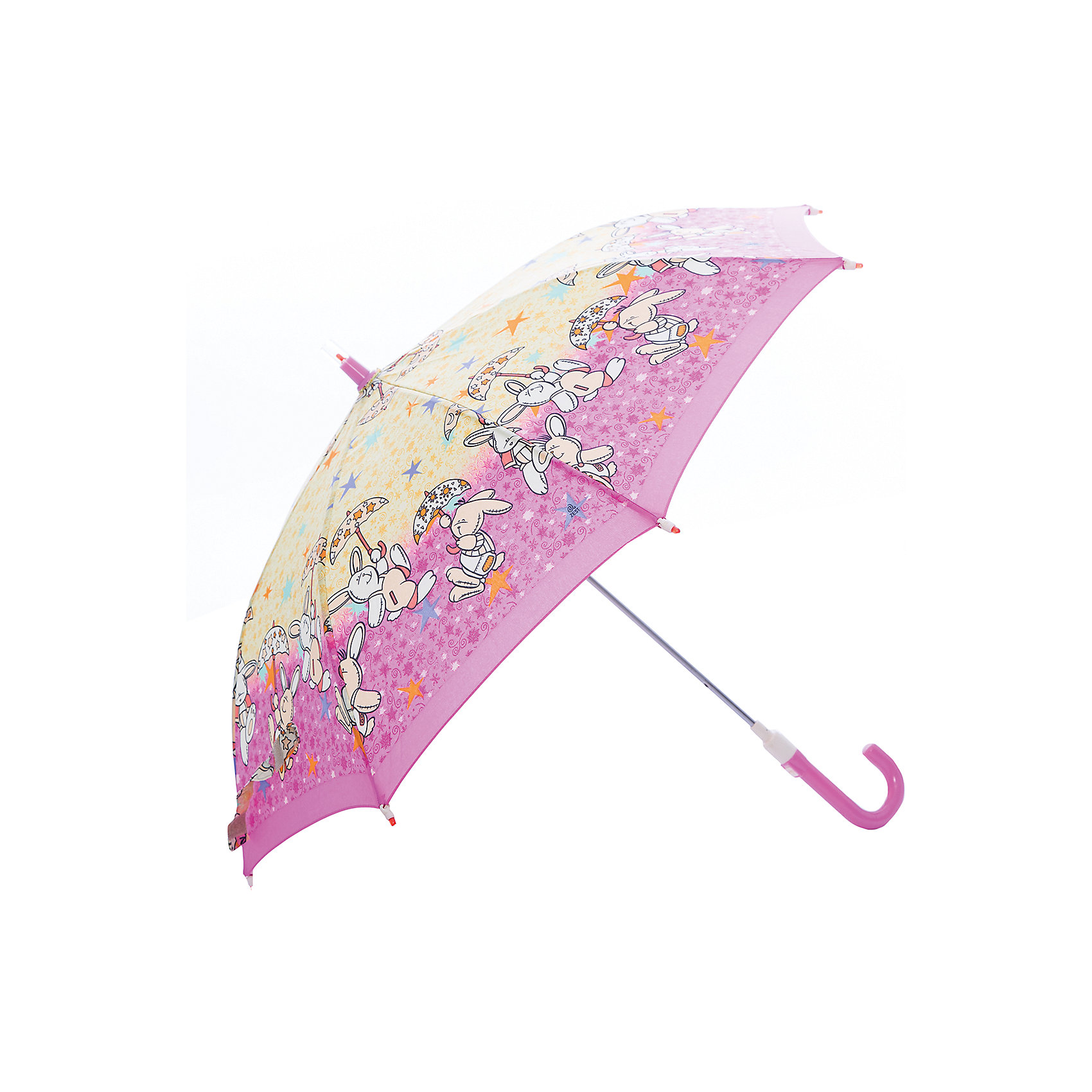 Зонт-трость, детский, розово-желтыйЗонты детские<br>Красочный детский зонтик Zest трость, механика, 8 спиц, купол 72 см, материал купола полиэстер, ручка зонта из пластика, материал каркаса - сталь. Концы спиц зонтика прикрыты специальными колпачками. ВЕТРОУСТОЙЧИВАЯ КОНСТРУКЦИЯ. Внимание! В сильный ветер не эксплуатировать! Зонт может сломаться. Гарантия 6 месяцев, срок службы 5 лет.<br><br>Ширина мм: 680<br>Глубина мм: 0<br>Высота мм: 0<br>Вес г: 310<br>Возраст от месяцев: 36<br>Возраст до месяцев: 2147483647<br>Пол: Унисекс<br>Возраст: Детский<br>SKU: 5511990