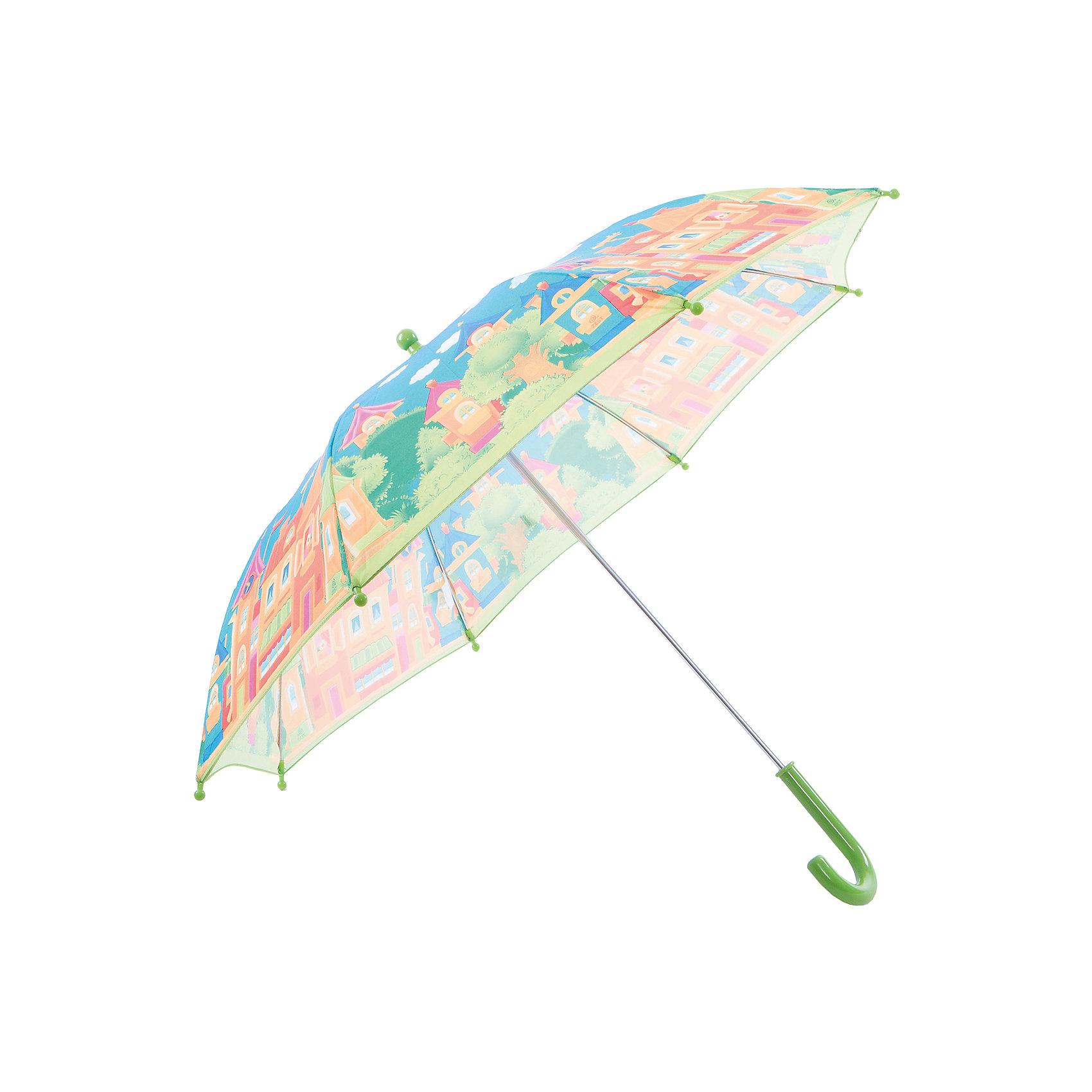 Зонт-трость, детский, без светодиодовЗонты детские<br>Красочный детский зонтик Zest 81561, трость, механика, 8 спиц, купол 72 см, материал купола полиэстер, ручка зонта из пластика, материал каркаса - сталь. Концы спиц зонтика прикрыты специальными колпачками. ВЕТРОУСТОЙЧИВАЯ КОНСТРУКЦИЯ. Внимание! В сильный ветер не эксплуатировать! Зонт может сломаться. Гарантия 6 месяцев, срок службы 5 лет.<br><br>Ширина мм: 680<br>Глубина мм: 0<br>Высота мм: 0<br>Вес г: 310<br>Возраст от месяцев: 36<br>Возраст до месяцев: 2147483647<br>Пол: Унисекс<br>Возраст: Детский<br>SKU: 5511993