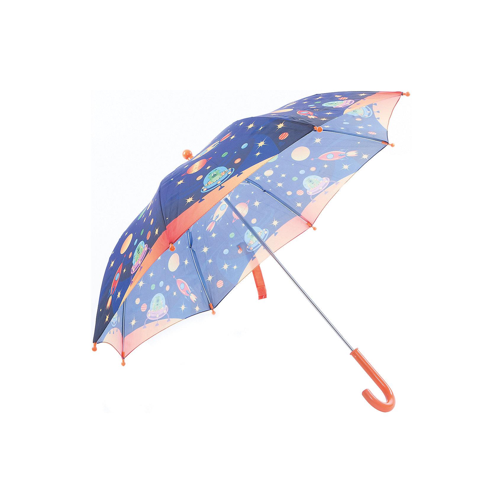 Зонт-трость, детский, рисунок ИнопланетянинКрасочный детский зонтик Zest 81561, трость, механика, 8 спиц, купол 72 см, материал купола полиэстер, ручка зонта из пластика, материал каркаса - сталь. Концы спиц зонтика прикрыты специальными колпачками. ВЕТРОУСТОЙЧИВАЯ КОНСТРУКЦИЯ. Внимание! В сильный ветер не эксплуатировать! Зонт может сломаться. Гарантия 6 месяцев, срок службы 5 лет.<br><br>Ширина мм: 680<br>Глубина мм: 0<br>Высота мм: 0<br>Вес г: 310<br>Возраст от месяцев: 36<br>Возраст до месяцев: 2147483647<br>Пол: Унисекс<br>Возраст: Детский<br>SKU: 5511995