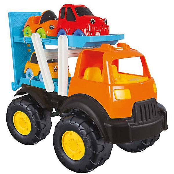Машинка Автовоз, PILSANМашинки<br>Машинка Автовоз, PILSAN (Пилсан)<br><br>Характеристики:<br><br>• яркий автовоз для транспортировки трёх машинок<br>• прочные рельефные колёса<br>• в комплекте: автовоз, 3 машинки<br>• материал: пластик<br>• размер упаковки: 38х26х51 см<br>• вес: 1850 грамм<br><br>Автовоз Pilsan очень большой и выносливый. Он способен быстро доставить легковые машинки до места назначения. <br><br>Автовоз оснащен большими рельефными колесами, которые без труда проедут по любой поверхности. <br><br>В комплект входят три легковые машинки. Игрушки изготовлены из высококачественного пластика, безопасного для детей.<br><br>Машинку Автовоз, PILSAN (Пилсан) вы можете купить в нашем интернет-магазине.<br><br>Ширина мм: 510<br>Глубина мм: 260<br>Высота мм: 380<br>Вес г: 1850<br>Возраст от месяцев: 36<br>Возраст до месяцев: 96<br>Пол: Мужской<br>Возраст: Детский<br>SKU: 5512001