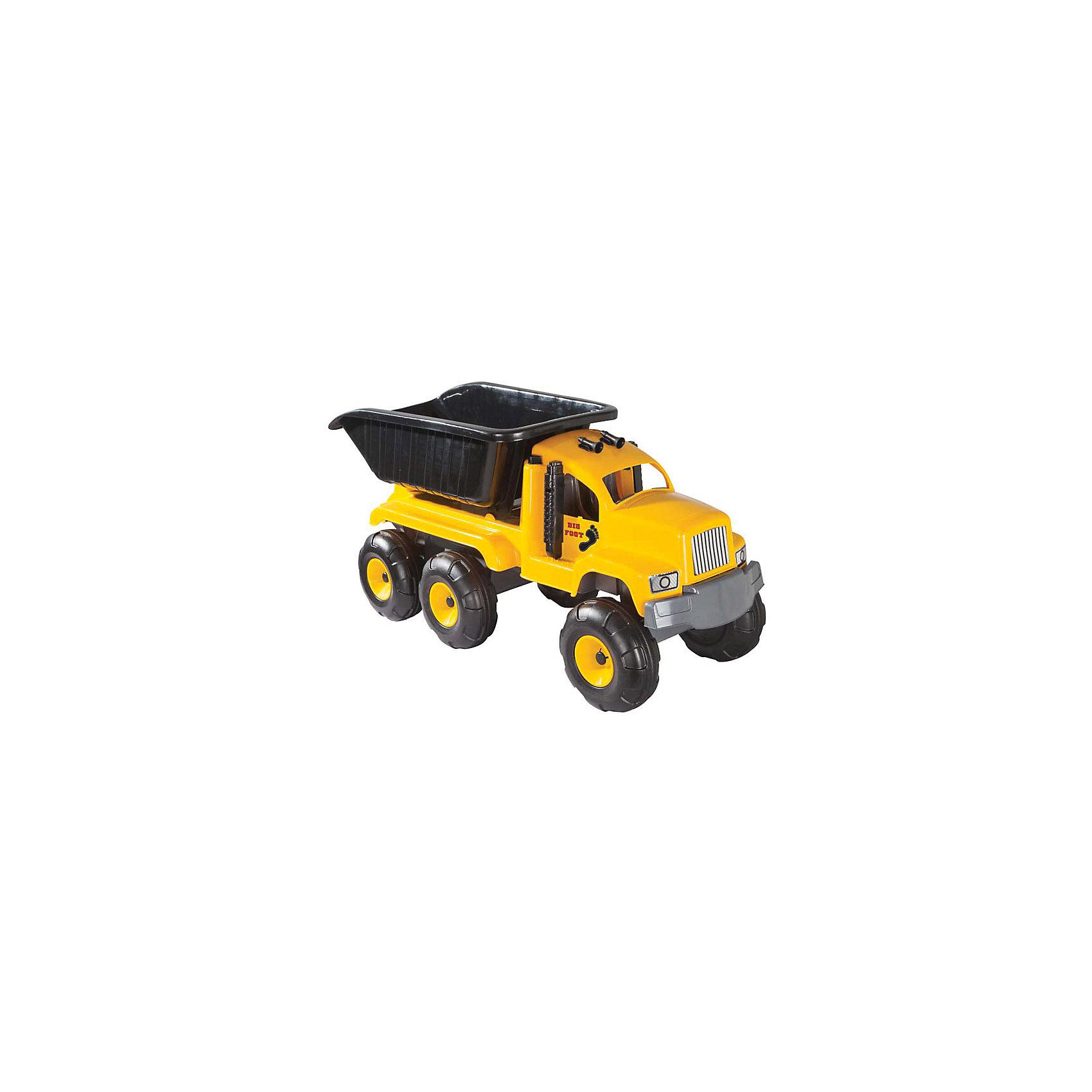Машинка Самосвал большой BIG FOOT, PILSANМашинки<br>Характеристики товара:<br><br>• возраст: от 3 лет<br>• материал: пластик<br>• размер упаковки: 43х90х36 см<br>• вес: 4,75 кг<br><br>Самосвал Pilsan поможет перевезти игрушки, песок и другие предметы. Ребенок сможет устроить настоящую строительную площадку в песочнице или у себя дома! <br><br>Большие прочные колеса справятся с любой дорожной поверхностью. <br><br>Машинку Самосвал большой BIG FOOT, PILSAN (Пилсан) вы можете купить в нашем интернет-магазине.<br><br>Ширина мм: 360<br>Глубина мм: 900<br>Высота мм: 430<br>Вес г: 4750<br>Возраст от месяцев: 36<br>Возраст до месяцев: 96<br>Пол: Мужской<br>Возраст: Детский<br>SKU: 5512004