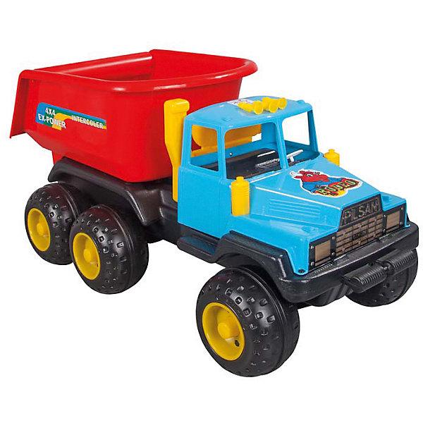 Машинка Самосвал большой RODEO с лопатками, PILSANМашинки<br>Характеристики товара:<br><br>• рычаг управления кузовом<br>• эргономичный дизайн<br>• большие колеса с протектором<br>• в комплекте: самосвал, лопатки<br>• материал: пластик<br>• размер: 42х91х43 см<br>• вес: 6 кг<br><br>RODOE PILSAN - большой самосвал для игр в песочнице. Он оснащен удобным рычагом для управления кузовом и большими колесами. <br><br>Самосвал сможет перевезти большое количество песка и игрушек до пункта назначения. В комплект входят лопатки. Прочные колеса с протектором отлично ездят по асфальту и песку. <br><br>Игрушка выполнена из высококачественного пластика, безопасного для детей. <br><br>Игра способствует развитию воображения, моторики рук и координации движений.<br><br>Машинка Самосвал большой RODEO с лопатками, PILSAN (Пилсан) можно купить в нашем интернет-магазине.<br><br>Ширина мм: 430<br>Глубина мм: 910<br>Высота мм: 420<br>Вес г: 6000<br>Возраст от месяцев: 36<br>Возраст до месяцев: 96<br>Пол: Мужской<br>Возраст: Детский<br>SKU: 5512007