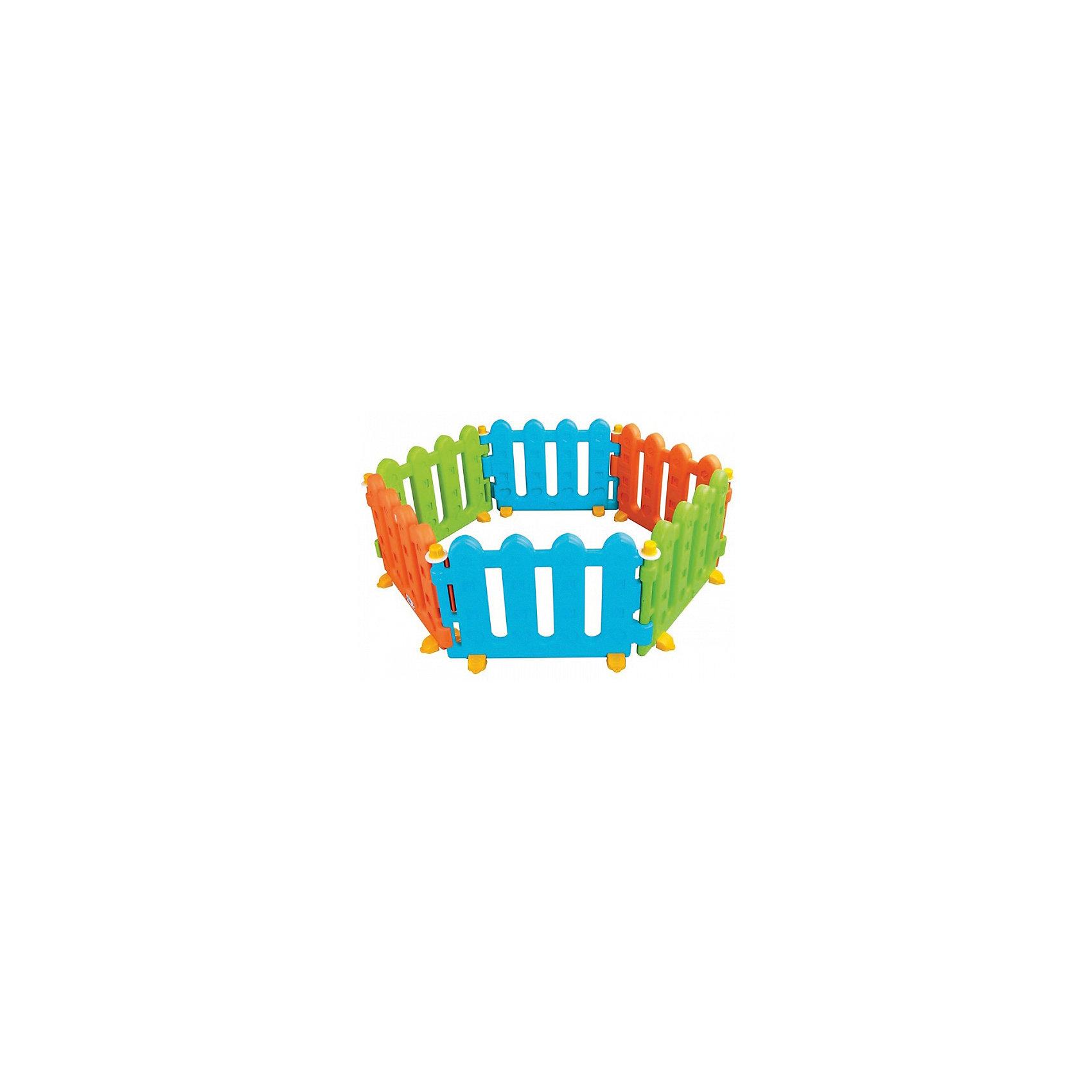Ограждение PLAY, 6 деталей, PILSANДомики и мебель<br>Характеристики товара:<br><br>• возраст: от 1 года<br>• безвинтовая конструкция<br>• легко собирается<br>• компактна в сложенном виде<br>• можно создать любую форму<br>• закругленные края<br>• состоит из 6 частей<br>• материал: пластик<br>• размер упаковки: 57х37х82 см<br>• вес: 14 кг<br><br>Ограждение PLAY PILSAN прекрасно подойдет для создания безопасной игровой зоны для малышей. <br><br>Ограждение состоит из 6 частей, которые легко соединяются друг с другом. Вы сможете собрать любую геометрическую форму, удобную для вас и ребенка. <br><br>Изделие выполнено из качественного безопасного пластика и окрашено нетоксичными красками. Закругленные края препятствуют получению возможных травм. <br><br>Ограждение PLAY, PILSAN (Пилсан) можно купить в нашем интернет-магазине.<br><br>Ширина мм: 820<br>Глубина мм: 370<br>Высота мм: 570<br>Вес г: 14000<br>Возраст от месяцев: 12<br>Возраст до месяцев: 36<br>Пол: Унисекс<br>Возраст: Детский<br>SKU: 5512009