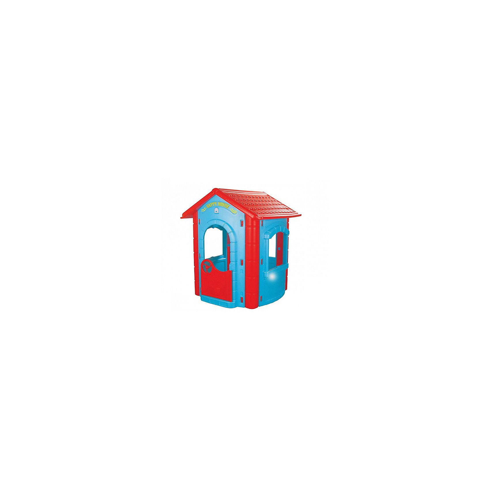 Домик игровой HAPPY HOUSE, PILSANДомики и мебель<br>Характеристики товара:<br><br>• цвет: голубой, красный<br>• возраст: с 2 лет<br>• прочная конструкция<br>• привлекательный дизайн<br>• безопасные материалы<br>• вместительное внутреннее пространство<br>• материал: пластик<br>• размер: 112х104,5х131 см<br>• размер упаковки: 70х130х45 см<br>• вес: 22,5 кг<br><br>Дом HAPPY HOUSE подарит малышу хорошее настроение и увлекательную игру. В игровой домик ребенок сможет пригласить своих друзей и угостить их вкусным чаем. <br><br>Игра с домиком способствует развитию социально-коммуникативных связей. <br><br>Домик можно установить на игровой площадке или в детской комнате. <br><br>Яркая расцветка домика привлечет внимание и пробудит интерес к сюжетно-ролевым играм. <br><br>Домик игровой HAPPY HOUSE, PILSAN (Пилсан) можно купить в нашем интернет-магазине.<br><br>Ширина мм: 450<br>Глубина мм: 1300<br>Высота мм: 700<br>Вес г: 22500<br>Возраст от месяцев: 24<br>Возраст до месяцев: 120<br>Пол: Унисекс<br>Возраст: Детский<br>SKU: 5512014