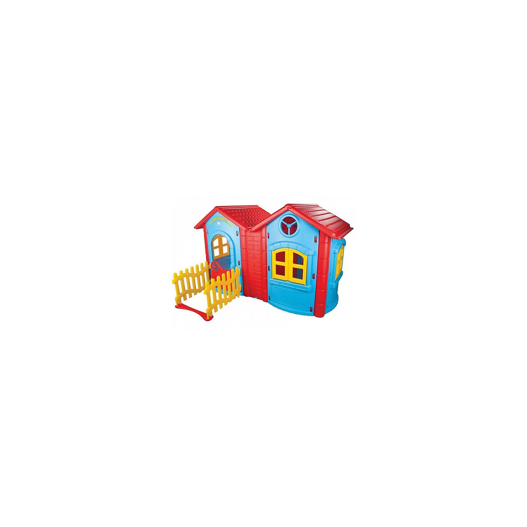 Домик игровой двухкомнатный MAGIC DOUBLE, PILSANДомики и мебель<br>Домик игровой двухкомнатный MAGIC DOUBLE, PILSAN (Пилсан)<br><br>Характеристики:<br><br>• прочная конструкция<br>• два домика с забором и декоративными элементами<br>• привлекательный дизайн<br>• безопасные материалы<br>• вместительное внутреннее пространство<br>• материал: пластик<br>• размер: 172х220х131 см<br>• размер упаковки: 48х48х48 см<br>• вес: 34,8 кг<br><br>Игровой домик - отличное решение для игровой зоны. Конструкция состоит из двух домиков с заборчиком и различными декоративными элементами. Ребенок сможет устраивать чаепития и игры с друзьями или игрушками. Игра развивает социально-коммуникативные навыки и речь. Дом изготовлен из высококачественного пластика с использованием нетоксичных красок. Он выдерживает высокую нагрузку и обладает хорошей устойчивостью к механическому воздействию. <br><br>Домик игровой двухкомнатный MAGIC DOUBLE, PILSAN (Пилсан) вы можете купить в нашем интернет-магазине.<br><br>Ширина мм: 480<br>Глубина мм: 480<br>Высота мм: 480<br>Вес г: 34800<br>Возраст от месяцев: 24<br>Возраст до месяцев: 120<br>Пол: Унисекс<br>Возраст: Детский<br>SKU: 5512015