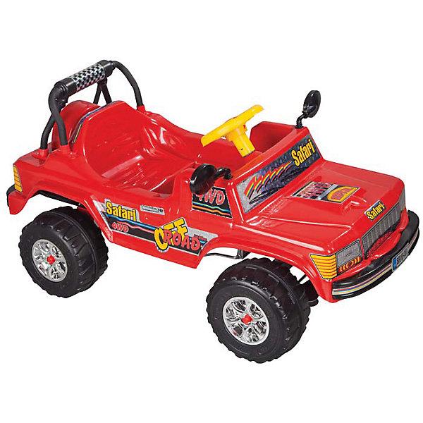 Педальная машина SAFARI, PILSANМашинки-каталки<br>Характеристики товара:<br><br>• цвет: красный<br>• возраст: от 3 лет<br>• удобное сиденье со спинкой<br>• рельефные колеса<br>• звуковой сигнал<br>• прямой педальный привод<br>• рулевое управление<br>• максимальная нагрузка: 50 кг<br>• материал: пластик<br>• размер упаковки: 56х111х63 см<br>• вес: 9,8 кг<br><br>Юный водитель будет в восторге от машины SAFARI PILSAN! <br><br>Машина выглядит очень ярко и эффектно. Она имеет удобное сиденье со спинкой и регулируемые зеркала заднего вида. Машина приводится в движение нажатием на педали и поворачивает при помощи руля. Широкие рельефные колеса хорошо ездят по асфальту. <br><br>С такой машиной ребенок почувствует себя настоящим гонщиком! <br><br>Педальную машину SAFARI, PILSAN (Пилсан) можно купить в нашем интернет-магазине.<br><br>Ширина мм: 630<br>Глубина мм: 1110<br>Высота мм: 560<br>Вес г: 9800<br>Возраст от месяцев: 36<br>Возраст до месяцев: 84<br>Пол: Унисекс<br>Возраст: Детский<br>SKU: 5512029