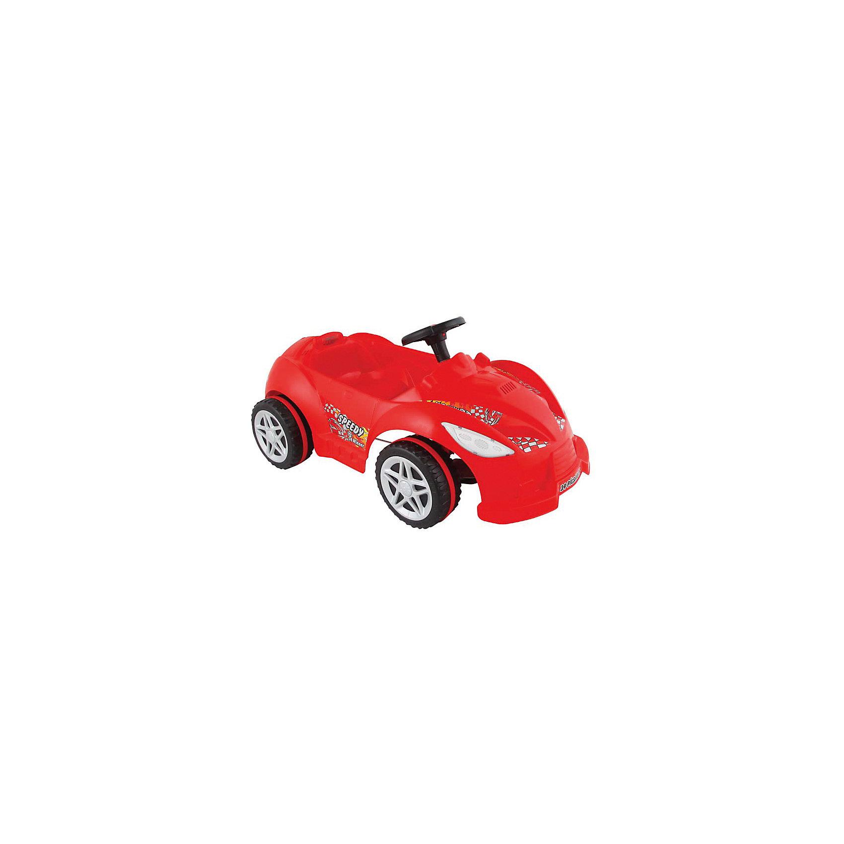 Педальная машина SPEEDY, PILSANМашинки-каталки<br>Характеристики товара:<br><br>• цвет: красный<br>• возраст: от 3 лет<br>• цельный корпус<br>• рельефные колеса<br>• звуковой сигнал<br>• прямой педальный привод<br>• рулевое управление<br>• максимальная нагрузка: 50 кг<br>• материал: пластик<br>• размер упаковки: 39х108х61 см<br>• вес: 5,6 кг<br><br>Педальная машина SPEEDY PILSAN придётся по вкусу начинающим гонщикам. <br><br>Она имеет цельный корпус, изготовленный из прочного безопасного пластика. Машина оснащена механическим гудком, который принесёт ещё больше радости во время поездки. <br><br>Управлять автомобилем очень просто - достаточно лишь крутить педали и поворачивать руль. <br><br>Яркая гоночная машина никого не оставит равнодушным!<br><br>Педальную машину SPEEDY, PILSAN (Пилсан) вы можете купить в нашем интернет-магазине.<br><br>Ширина мм: 610<br>Глубина мм: 1080<br>Высота мм: 390<br>Вес г: 5600<br>Возраст от месяцев: 36<br>Возраст до месяцев: 84<br>Пол: Унисекс<br>Возраст: Детский<br>SKU: 5512030