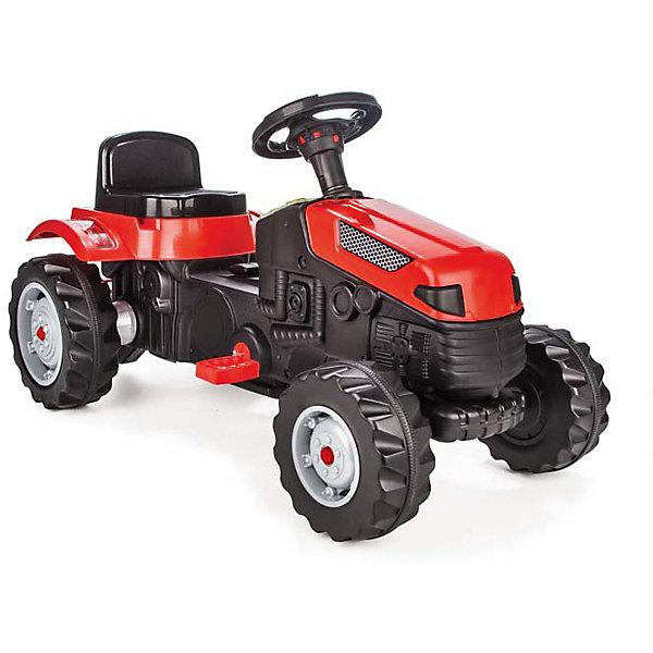 Педальная машина TRACTOR, PILSANМашинки-каталки<br>Характеристики товара:<br><br>• цвет: красный<br>• возраст: от 3 лет<br>• реалистичные детали<br>• широкие рельефные колеса<br>• удобное сиденье<br>• регулируемое сиденье с 6-ступенчатым механизмом<br>• рулевое управление<br>• звуковой сигнал<br>• цепная передача<br>• максимальная нагрузка: 50 кг<br>• материал: пластик<br>• размер упаковки: 51х95х51 см<br>• вес: 8,05 кг<br><br>Педальная машина TRACTOR - прекрасный подарок для ребенка. Игрушка изготовлена из высококачественного прочного пластика. <br><br>Машина имеет удобное регулируемое сиденье с 6-ступенчатым механизмом, управляется с помощью руля и педалей. Звуковой сигнал оповестит окружающих о поездке ребенка. Широкие рельефные колеса хорошо справляются с поверхностью асфальта. <br><br>Игра с машиной способствует физическому развитию ребенка.<br><br>Педальную машину TRACTOR, PILSAN (Пилсан) можно купить в нашем интернет-магазине.<br><br>Ширина мм: 510<br>Глубина мм: 950<br>Высота мм: 510<br>Вес г: 8050<br>Возраст от месяцев: 36<br>Возраст до месяцев: 84<br>Пол: Унисекс<br>Возраст: Детский<br>SKU: 5512032
