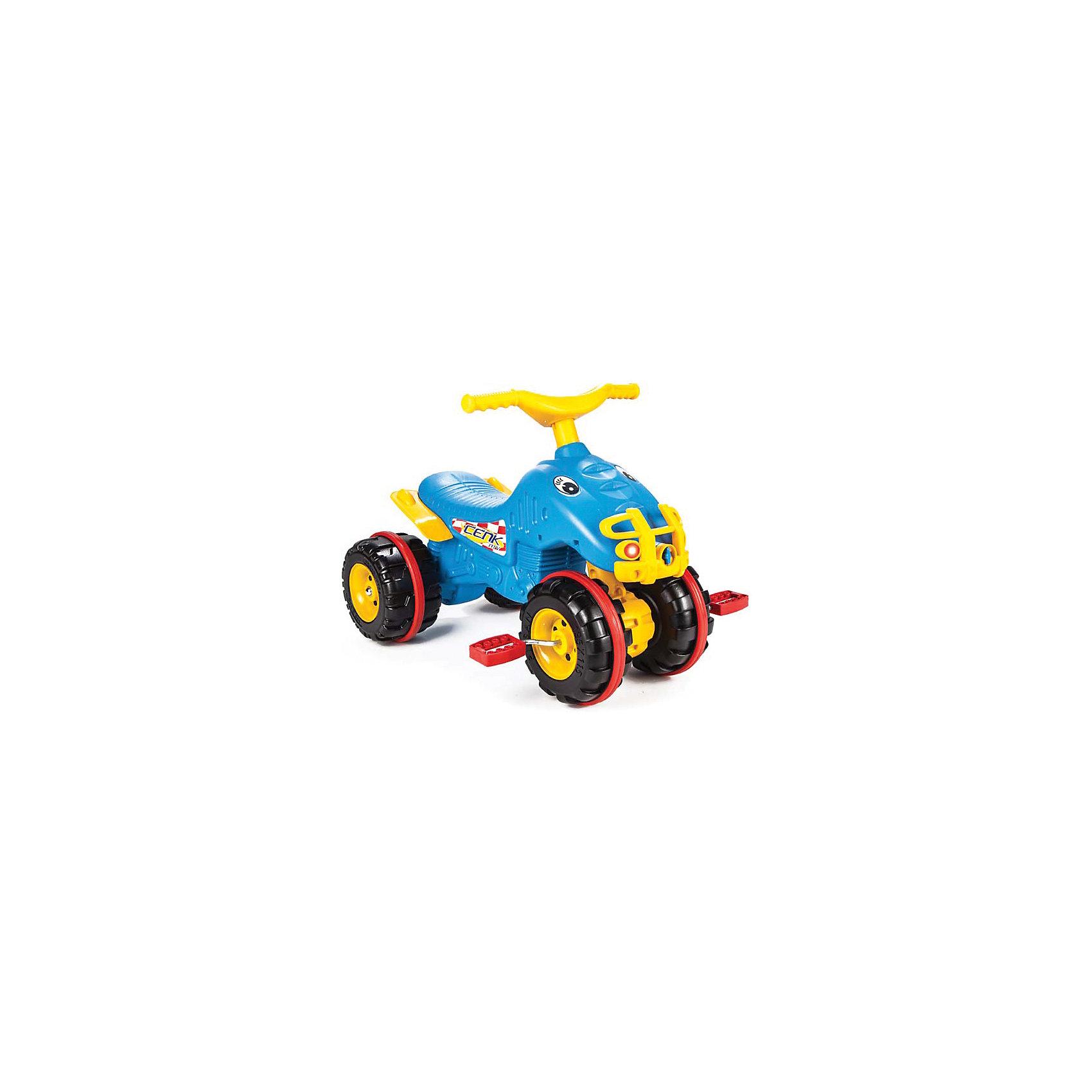 Педальная машина Квадроцикл CENK ATV (в ассортименте), PILSANМашинки-каталки<br>Педальная машина Квадроцикл CENK ATV (в ассортименте), PILSAN (Пилсан)<br><br>Характеристики:<br><br>• анатомическая форма сиденья<br>• управление с помощью педалей и руля<br>• яркий дизайн<br>• способствует физическому развитию и развитию координации движений<br>• материал: пластик<br>• размер упаковки: 48х67х49 см<br>• вес: 2,8 кг<br><br>Квадроцикл с педальным управлением станет первым личным транспортом малыша. Яркая расцветка непременно понравится маленьким гонщикам. Квадроцикл управляется с помощью педалей и руля. Анатомическая форма сиденья позволит ребенку удобно расположиться в квадроцикле. Игрушка изготовлена из прочного высококачественного пластика. Максимальная нагрузка - 50 кг.<br><br>ВНИМАНИЕ! Данный артикул имеется в наличии в разных цветовых исполнениях. К сожалению, заранее выбрать определенный цвет не возможно.<br><br>Педальную машину Квадроцикл CENK ATV (в ассортименте), PILSAN (Пилсан) вы можете купить в нашем интернет-магазине.<br><br>Ширина мм: 490<br>Глубина мм: 670<br>Высота мм: 480<br>Вес г: 2800<br>Возраст от месяцев: 36<br>Возраст до месяцев: 84<br>Пол: Унисекс<br>Возраст: Детский<br>SKU: 5512033