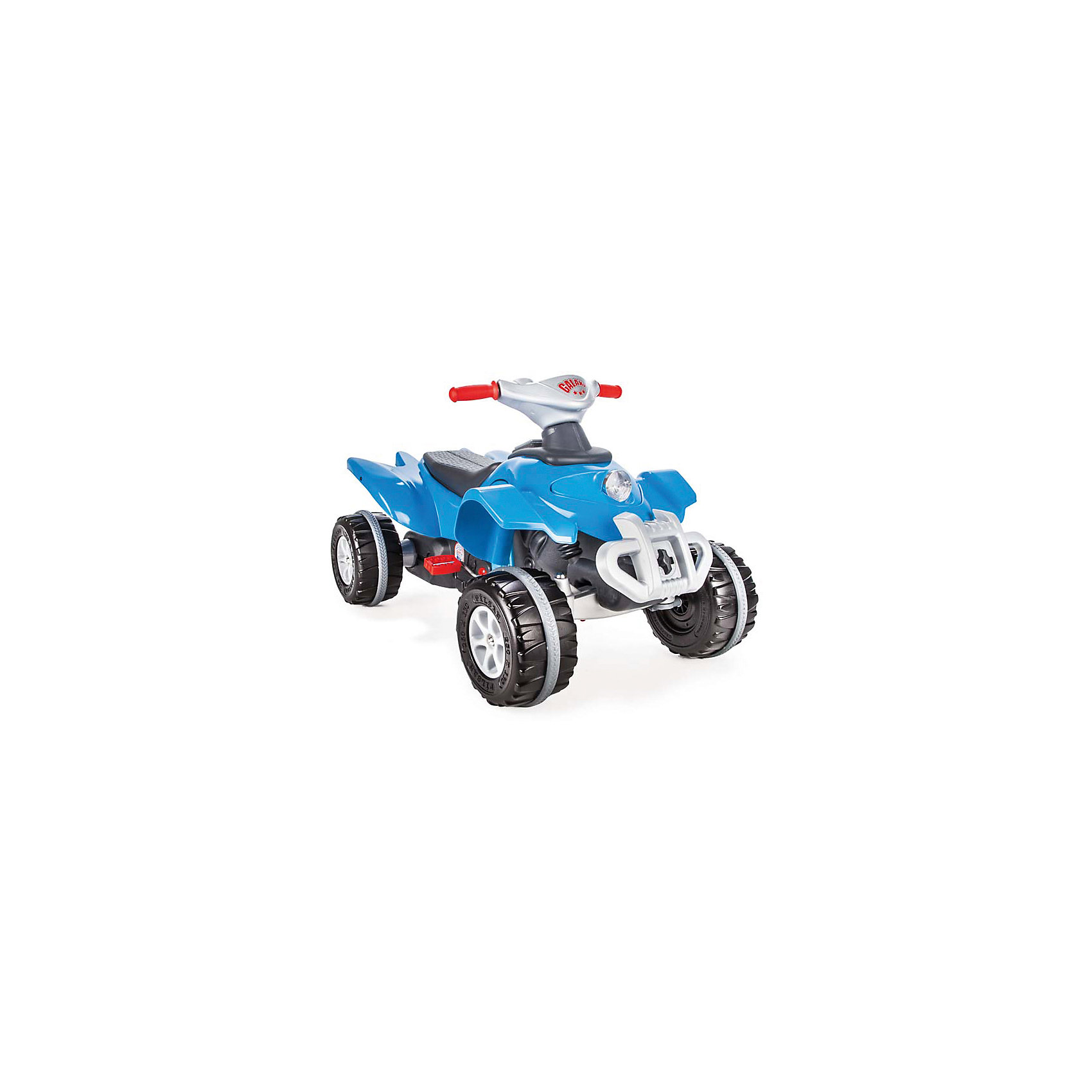 Педальная машина Квадроцикл GALAXY (в ассортименте), PILSANМашинки-каталки<br>Педальная машина Квадроцикл GALAXY (в ассортименте), PILSAN (Пилсан)<br><br>Характеристики:<br><br>• удобное сиденье<br>• съемный руль<br>• управление с помощью педалей и руля<br>• яркий дизайн<br>• способствует физическому развитию и развитию координации движений<br>• материал: пластик<br>• размер упаковки: 54х99х59 см<br>• вес: 10,6 кг<br><br>Квадроцикл GALAXY - отличный вариант первого транспорта ребенка. Он имеет удобное сиденье, съемный руль и, конечно же, привлекательный дизайн. Широкие рельефные колеса хорошо едут по неровным поверхностям. Квадроцикл управляется с помощью педалей и руля. Игра способствует физическому развитию и развитию координации ребенка. Игрушка изготовлена из высококачественного прочного пластика. Максимальная нагрузка - 50 кг.<br><br>ВНИМАНИЕ! Данный артикул имеется в наличии в разных цветовых исполнениях. К сожалению, заранее выбрать определенный цвет не возможно.<br><br>Педальную машину Квадроцикл GALAXY (в ассортименте), PILSAN (Пилсан) вы можете купить в нашем интернет-магазине.<br><br>Ширина мм: 590<br>Глубина мм: 990<br>Высота мм: 540<br>Вес г: 10600<br>Возраст от месяцев: 36<br>Возраст до месяцев: 84<br>Пол: Унисекс<br>Возраст: Детский<br>SKU: 5512034