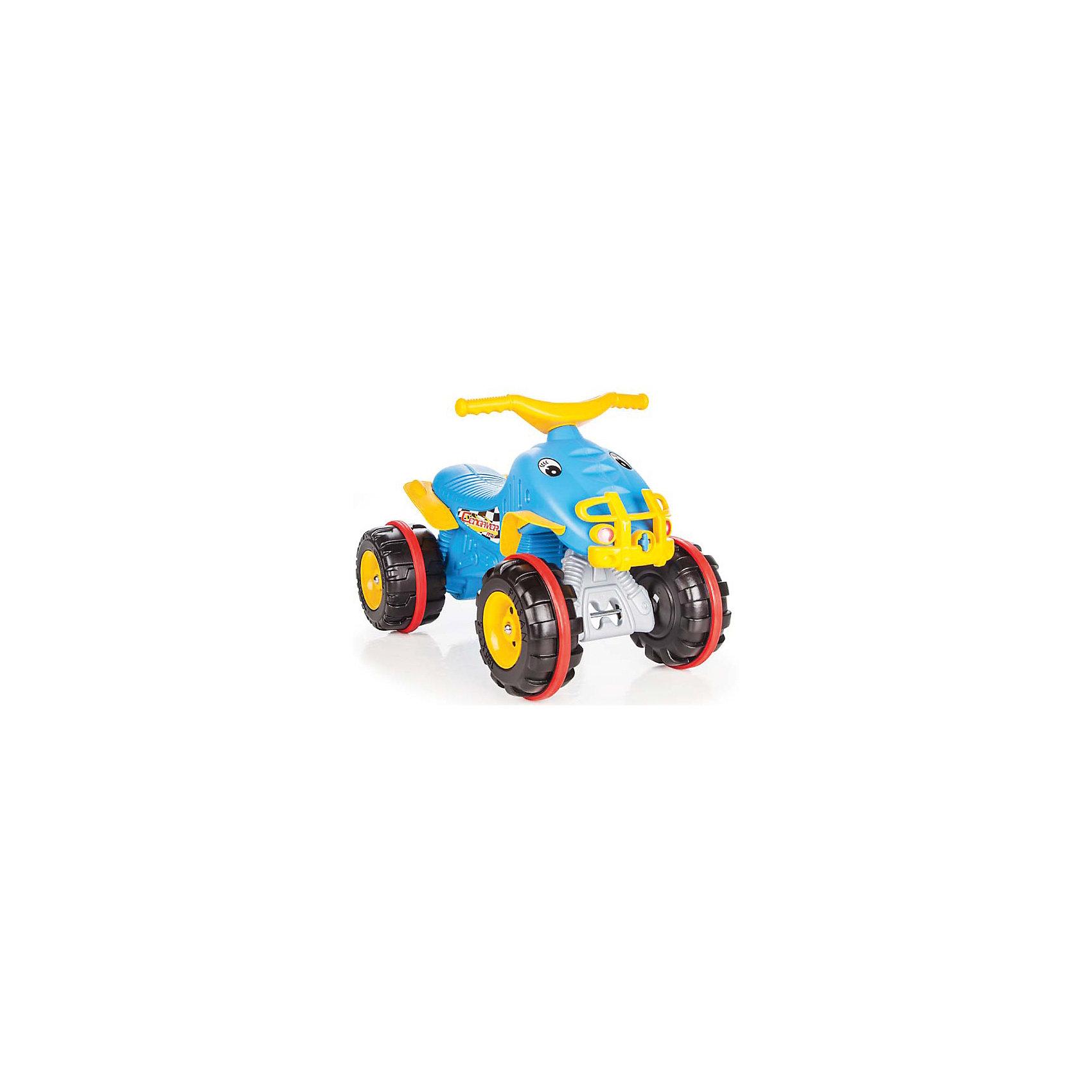 Каталка квадрацикл CENGAVER ATV, PILSANМашинки-каталки<br>Каталка квадроцикл CENGAVER ATV, PILSAN (Пилсан)<br><br>Характеристики:<br><br>• удобное сиденье <br>• резиновая вставка на колесах<br>• устойчивые колеса<br>• развивает координацию и опорно-двигательный аппарат<br>• материал: пластик<br>• максимальная нагрузка: 50 кг<br>• размер упаковки: 45х67х41см<br>• вес: 2,8 кг<br><br>Каталку квадроцикл можно использовать и дома, и на улице. Удобная форма сиденья позволит малышу с комфортом расположиться в каталке. Большие колеса с резиновыми вставками справятся с неровной поверхностью. Чтобы двигаться на каталке, нужно отталкиваться ногами. Яркий дизайн каталки всегда будет радовать малыша!<br><br>Каталку квадроцикл CENGAVER ATV, PILSAN (Пилсан) можно купить в нашем интернет-магазине.<br><br>Ширина мм: 410<br>Глубина мм: 670<br>Высота мм: 450<br>Вес г: 2800<br>Возраст от месяцев: 36<br>Возраст до месяцев: 84<br>Пол: Унисекс<br>Возраст: Детский<br>SKU: 5512045