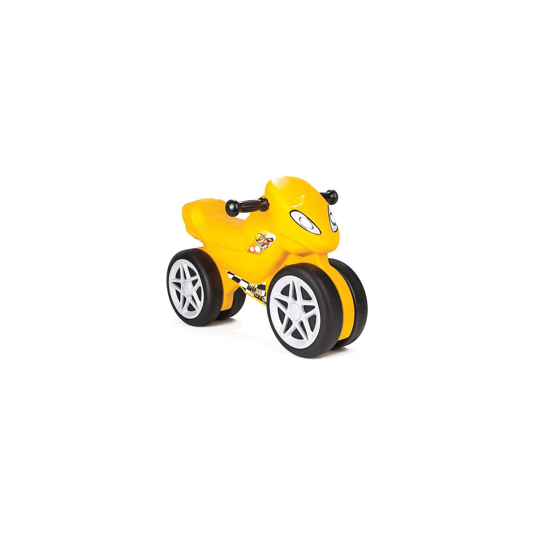 Каталка Мотоцикл MINI MOTO в подарочной коробке (в ассортименте), PILSANМашинки-каталки<br>Каталка Мотоцикл MINI MOTO в подарочной коробке (в ассортименте), PILSAN (Пилсан)<br><br>Характеристики:<br><br>• удобное сиденье <br>• 6 мелодий<br>• устойчивые колеса<br>• развивает координацию и опорно-двигательный аппарат<br>• материал: пластик<br>• максимальная нагрузка: 50 кг<br>• размер упаковки: 42х66х15см<br>• вес: 2,45 кг<br><br>Маленькая каталка в виде мотоцикла никого не оставит равнодушным! Привлекательный дизайн, звуковые мелодии и яркая расцветка придутся по вкусу юным гонщикам. Устойчивые колеса хорошо едут по неровным поверхностям. Вы сможете использовать каталку дома или взять ее на прогулку. Изделие выполнено из прочного безопасного пластика.<br><br>Каталку Мотоцикл MINI MOTO в подарочной коробке (в ассортименте), PILSAN (Пилсан) можно купить в нашем интернет-магазине.<br><br>Ширина мм: 150<br>Глубина мм: 660<br>Высота мм: 420<br>Вес г: 2450<br>Возраст от месяцев: 36<br>Возраст до месяцев: 84<br>Пол: Унисекс<br>Возраст: Детский<br>SKU: 5512046