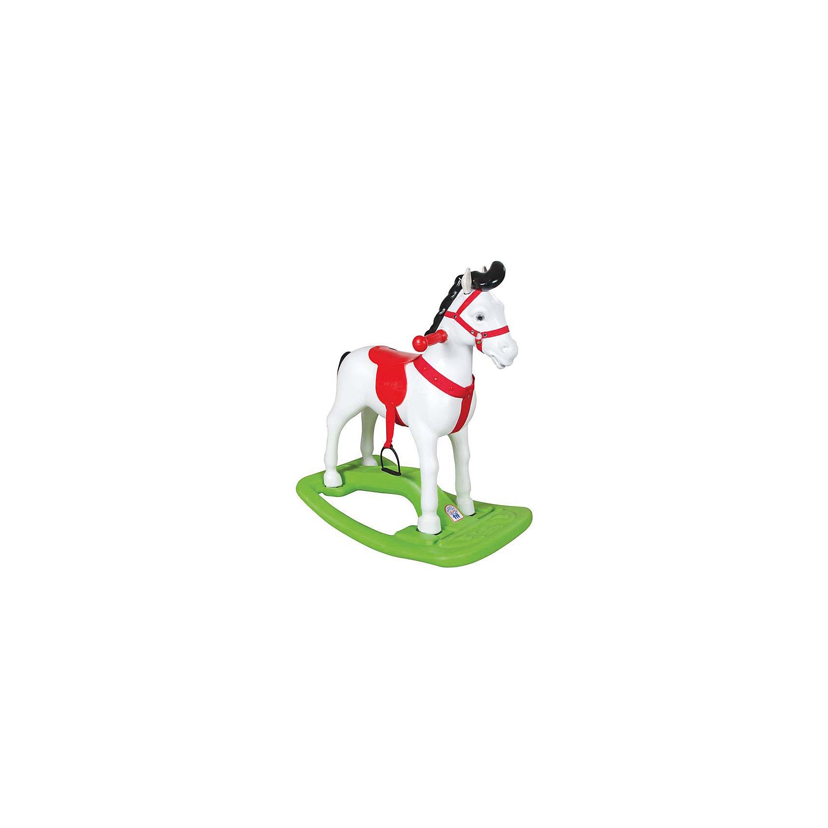 Качалка Лошадь большая, PILSANКачели и качалки<br>Качалка Лошадь большая, PILSAN (Пилсан)<br><br>Характеристики:<br><br>• защита от опрокидывания<br>• удобные ручки<br>• эргономичный дизайн<br>• фиксаторы для ног<br>• способствует физическому развитию, развивает координацию<br>• материал: пластик<br>• максимальная нагрузка: 50 кг<br>• размер упаковки: 74х69х40 см<br>• вес: 3,4 кг<br><br>Большая качалка в виде лошадки станет украшением вашего дома. На такой очаровательной лошадке ребенок всегда будет качаться с интересом! Качалка оснащена фиксаторами для ног и защитой от опрокидывания. Удобные ручки позволят ребенку держаться во время игры. Игра способствует физическому развитию и развитию координации движений. Игрушка выполнена из высококачественного пластика. Максимальная нагрузка - 50 кг.<br><br>Качалку Лошадь большая, PILSAN (Пилсан) можно купить в нашем интернет-магазине.<br><br>Ширина мм: 400<br>Глубина мм: 690<br>Высота мм: 740<br>Вес г: 3400<br>Возраст от месяцев: 36<br>Возраст до месяцев: 84<br>Пол: Унисекс<br>Возраст: Детский<br>SKU: 5512047