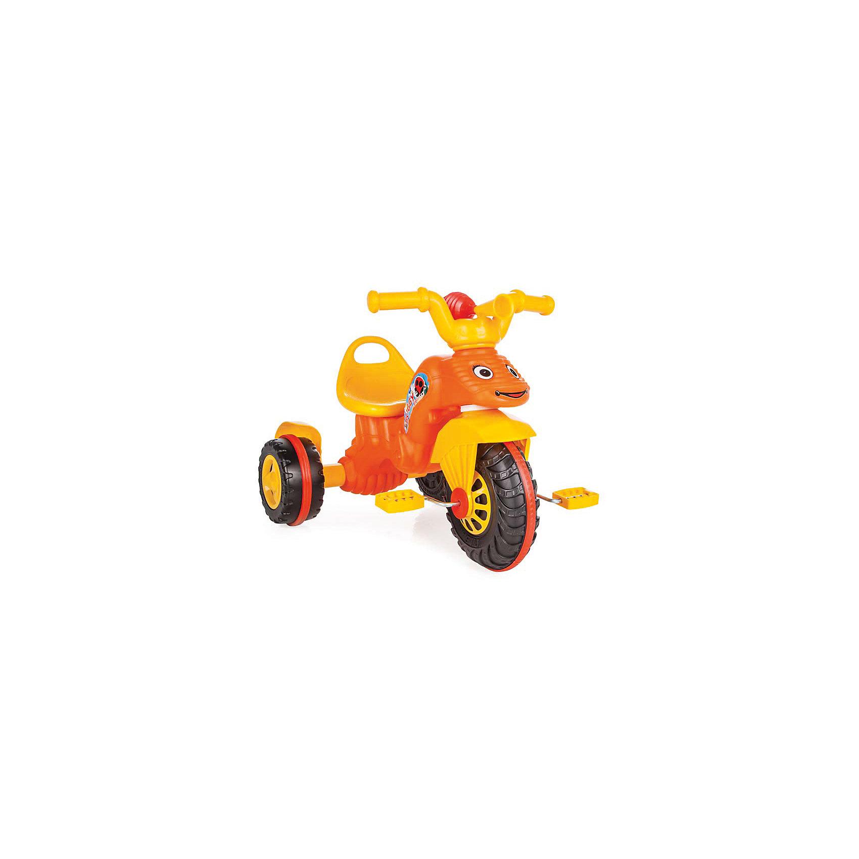 Велосипед BUNNY, PILSAN, оранжевыйВелосипеды детские<br>Характеристики товара:<br><br>• цвет: оранжевый<br>• возраст: от 3 лет<br>• удобное сиденье со спинкой<br>• специальное соединение колесной и рулевой базы<br>• устойчивые колеса<br>• ограничители на ручках<br>• оснащен клаксоном<br>• максимальная нагрузка: 50 кг<br>• материал: пластик<br>• размер упаковки: 50х70х48 см<br>• вес: 3,42 кг<br><br>BUNNY - трехколесный велосипед с ярким, эргономичным дизайном.<br><br>Сиденье со спинкой и ручки с ограничителями обеспечат комфорт во время поездки. <br><br>Устойчивые колеса справятся с неровной поверхностью. Велосипед оснащен клаксоном.<br><br>Игра способствует физическому развитию, развитию координации и опорно-двигательного аппарата.<br><br>Велосипед BUNNY в пакете, PILSAN (Пилсан) можно купить в нашем интернет-магазине.<br><br>Ширина мм: 480<br>Глубина мм: 700<br>Высота мм: 500<br>Вес г: 3420<br>Возраст от месяцев: 36<br>Возраст до месяцев: 84<br>Пол: Унисекс<br>Возраст: Детский<br>SKU: 5512051