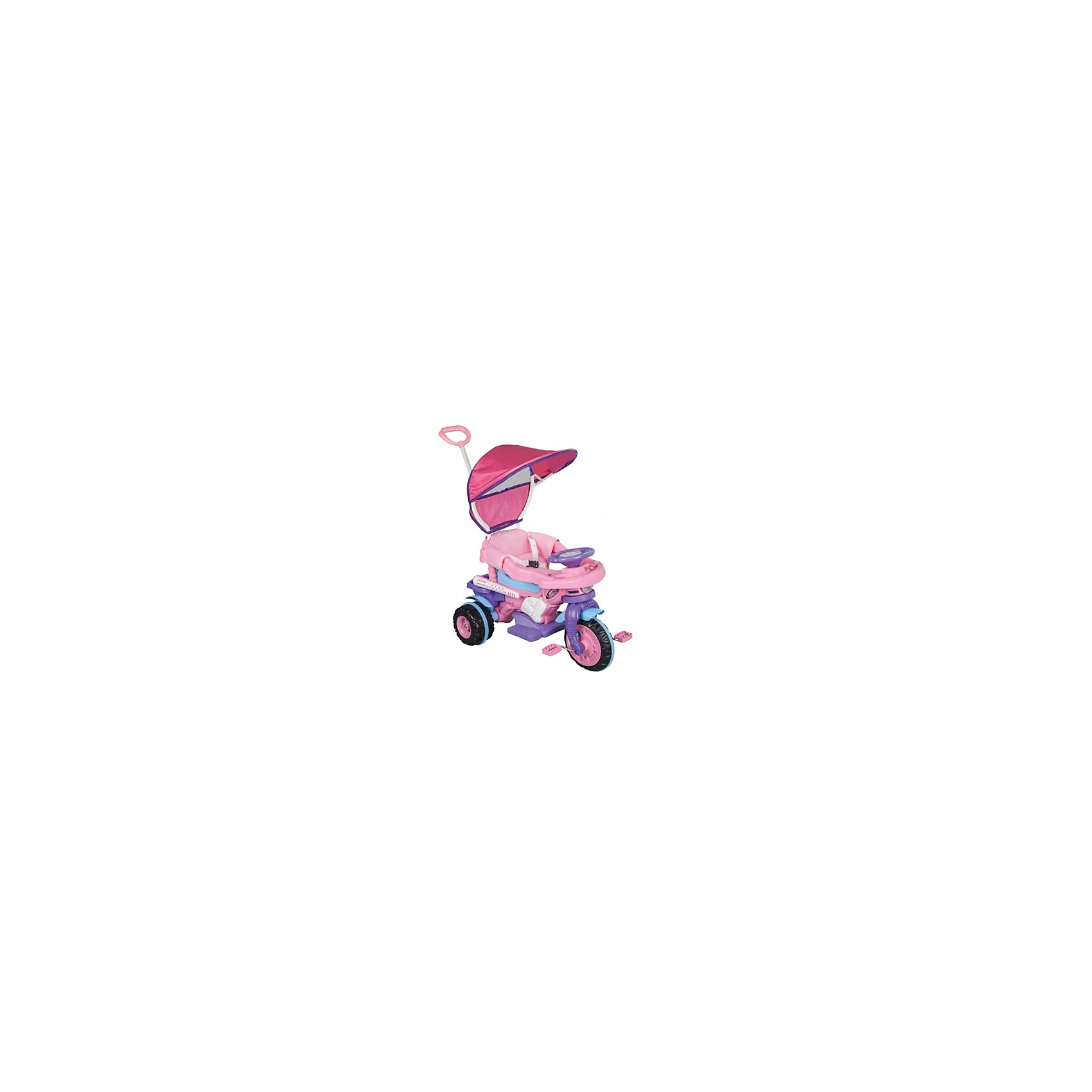Велосипед MAXI с ручкой управления в коробке, PILSANВелосипеды детские<br>Велосипед MAXI с ручкой управления в коробке, PILSAN (Пилсан)<br><br>Характеристики:<br><br>• эргономичная форма сиденья<br>• регулируемая родительская ручка управления<br>• устойчивые колеса<br>• съемные ограничители<br>• система блокировки педалей<br>• мягкий чехол<br>• музыкальная панель<br>• подставка для ног<br>• защита от солнца<br>• максимальная нагрузка: 50 кг<br>• материал: пластик<br>• размер упаковки: 55х81х51 см<br>• вес: 7 кг<br><br>Велосипед MAXI удобно брать с собой даже на прогулку! Малыш сможет комфортно расположиться в удобном сидении со съемными ограничителями по краям. Сиденье имеет съемный мягкий чехол. Съемный тент защитит ребенка от воздействия прямых солнечных лучей. Велосипед оснащен подставкой для ног, регулируемой родительской ручкой и защитой от брызг. Музыкальная панель добавит еще больше радости во время поездки! Способствует развитию опорно-двигательного аппарата. Велосипед изготовлен из высококачественного прочного пластика. Максимальная нагрузка - 50 кг.<br><br>Велосипед MAXI с ручкой управления в коробке, PILSAN (Пилсан) вы можете купить в нашем интернет-магазине.<br><br>Ширина мм: 510<br>Глубина мм: 810<br>Высота мм: 550<br>Вес г: 7000<br>Возраст от месяцев: 36<br>Возраст до месяцев: 84<br>Пол: Унисекс<br>Возраст: Детский<br>SKU: 5512057