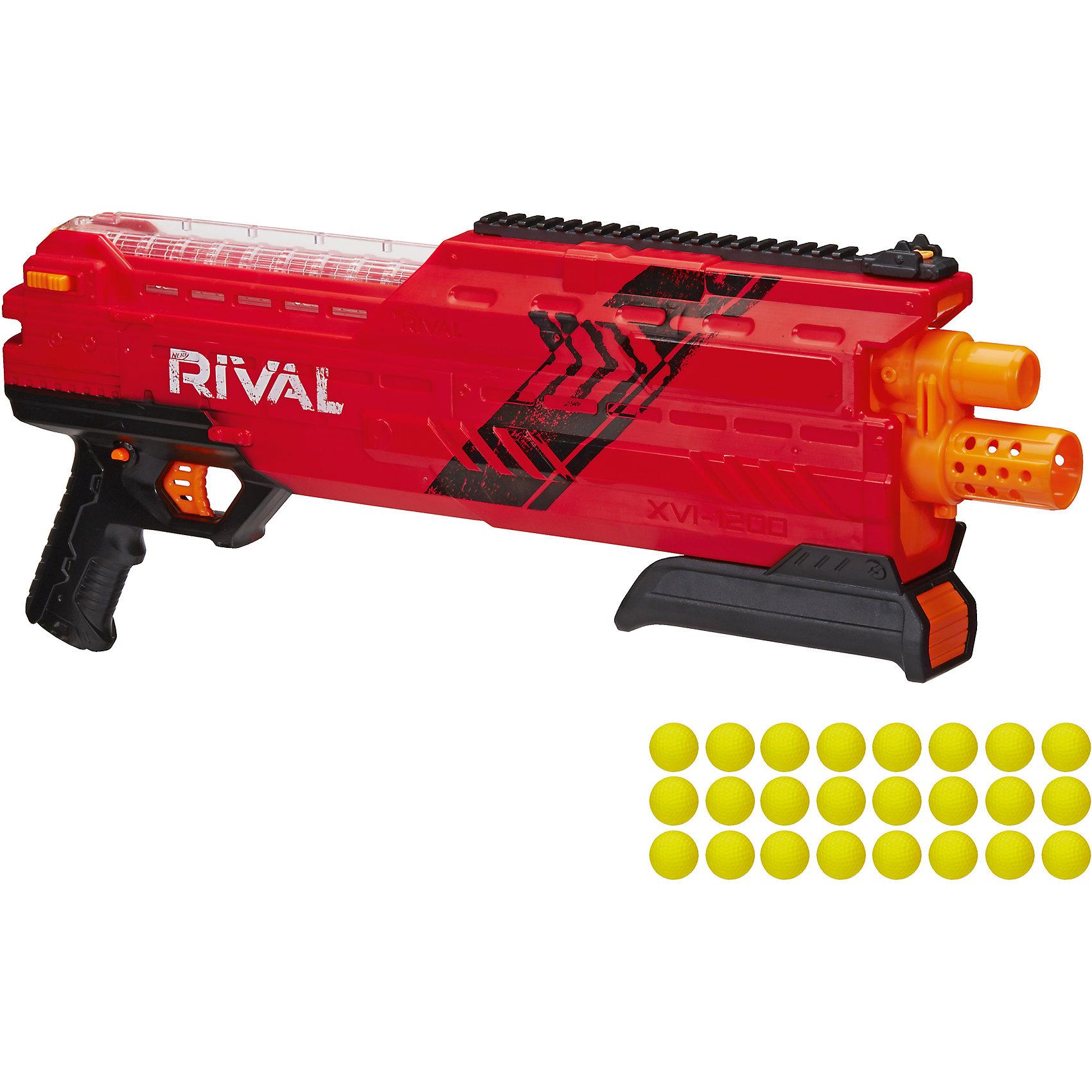 Бластер Райвал атлас, NERF, красныйБластеры, пистолеты и прочее<br>Бластер Райвал атлас, NERF (Нерф), красный<br><br>Характеристики:<br><br>• стреляет шариками (входят в комплект)<br>• обойма рассчитана на 12 шариков<br>• в комплекте: бластер, обойма, 24 шарика<br>• материал: пластик<br>• размер упаковки: 66х8,5х25,5 см<br>• вес: 1,6 кг<br>• цвет: красный<br><br>С бластером Райвал атлас можно устроить веселую перестрелку с друзьями! Бластер стреляет шариками. Одна обойма рассчитана на 12 шариков. К бластеру прилагаются 24 шарика. Прозрачный магазин позволит отследить количество патронов и вовремя пополнить боезапас. Бластер выполнен в современном дизайне, напоминающем короткоствольный дробовик. Выстреливает одновременно двумя патронами. С таким крутым бластером у противника не останется шансов на победу!<br><br>Бластер Райвал атлас, NERF (Нерф), красный можно купить в нашем интернет-магазине.<br><br>Ширина мм: 460<br>Глубина мм: 120<br>Высота мм: 220<br>Вес г: 1600<br>Возраст от месяцев: 168<br>Возраст до месяцев: 2147483647<br>Пол: Мужской<br>Возраст: Детский<br>SKU: 5512439