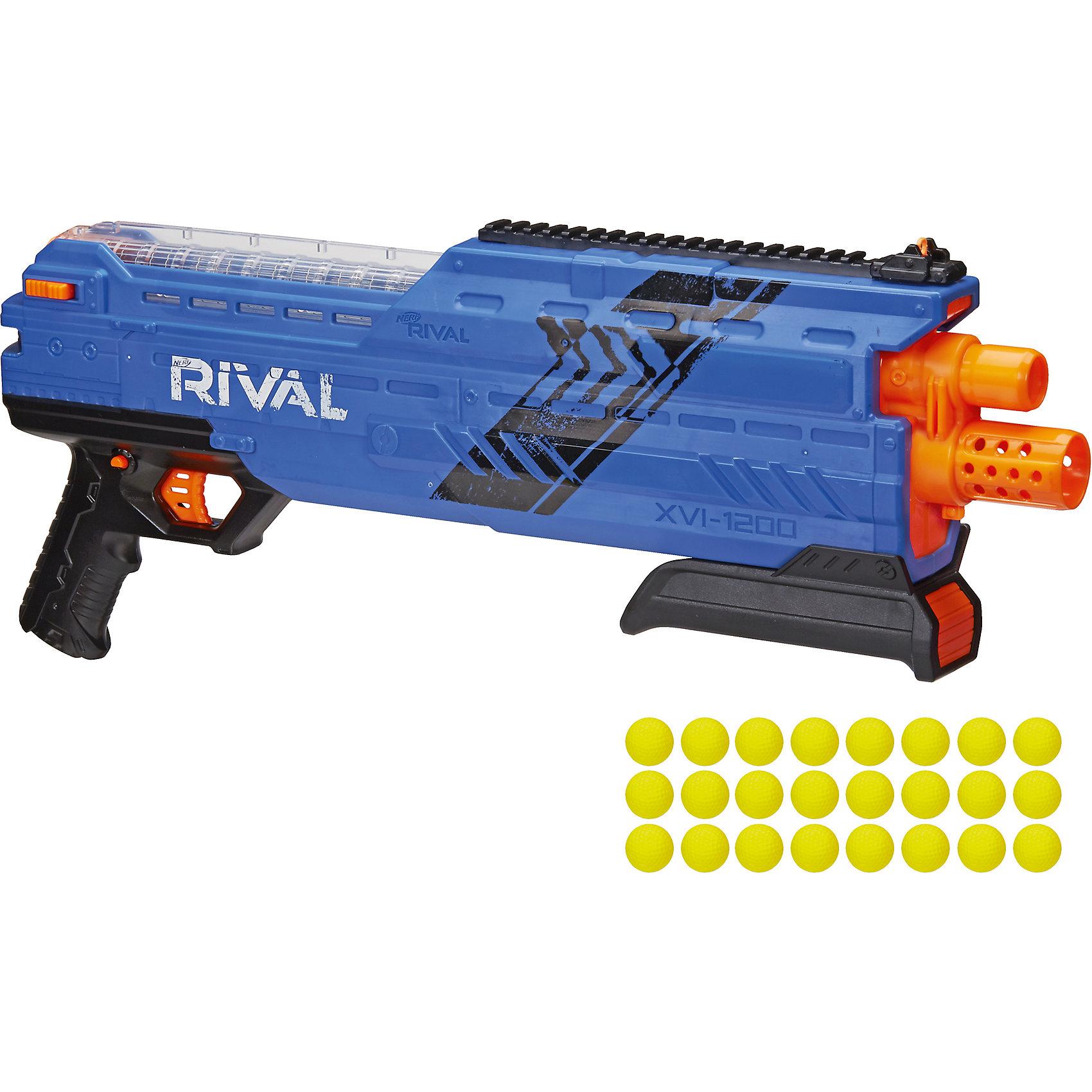Бластер Райвал атлас, NERF, синийБластеры, пистолеты и прочее<br>Бластер Райвал атлас, NERF (Нерф), синий<br><br>Характеристики:<br><br>• стреляет шариками (входят в комплект)<br>• обойма рассчитана на 12 шариков<br>• в комплекте: бластер, обойма, 24 шарика<br>• материал: пластик<br>• размер упаковки: 66х8,5х25,5 см<br>• вес: 1,6 кг<br>• цвет: синий<br><br>С бластером Райвал атлас можно устроить веселую перестрелку с друзьями! Бластер стреляет шариками. Одна обойма рассчитана на 12 шариков. К бластеру прилагаются 24 шарика. Прозрачный магазин позволит отследить количество патронов и вовремя пополнить боезапас. Бластер выполнен в современном дизайне, напоминающем короткоствольный дробовик. Выстреливает одновременно двумя патронами. С таким крутым бластером у противника не останется шансов на победу!<br><br>Бластер Райвал атлас, NERF (Нерф), синий можно купить в нашем интернет-магазине.<br><br>Ширина мм: 460<br>Глубина мм: 120<br>Высота мм: 220<br>Вес г: 1600<br>Возраст от месяцев: 168<br>Возраст до месяцев: 2147483647<br>Пол: Мужской<br>Возраст: Детский<br>SKU: 5512440