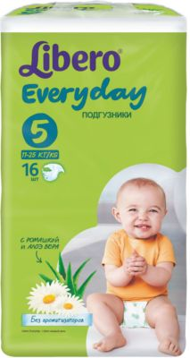Подгузники Everyday, XL 11-25 кг (5), 16 шт., Libero