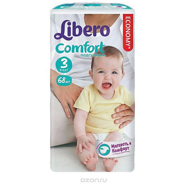 Подгузники Comfort, Meg Midi 4-9 кг (3), 68 шт., LiberoПодгузники классические<br>Характеристики:<br><br>• вес ребёнка: 4-9кг.;<br>• для детей в возрасте: с рождения;<br>• количество в упаковке: 68шт.;<br>• индикатор влаги;<br>• быстрое впитывание;<br>• специально для активных детей;<br>• вес упаковки: 1,3кг;<br>• упаковка: пакет;<br>• размер упаковки: 24х39х12см.;<br>• страна бренда: Швеция.<br><br>Подгузники «Libero Comfort» (Либеро Комфорт) Mega Midi (Мега Миди) станут отличным приобретением для самых маленьких детишек. Они созданы из высококачественных, экологически чистых материалов, что очень важно для детских товаров.<br><br>В удобных подгузниках с двумя видами привлекательных рисунков малыш будет сухо и комфортно себя чувствовать, особенно во время сна и долгих прогулок. Дышащий нетканый материал быстро впитывает влагу с помощью специальных гранул и специально создан для нежной кожи. Индикатор влаги меняет цвет по мере наполнения. Трусики плотно прилегают с помощью эластичного пояска. <br><br>Подгузники «Libero Comfort» (Либеро Комфорт) Mega Midi (Мега Миди) можно купить в нашем интернет-магазине.<br>Ширина мм: 127; Глубина мм: 147; Высота мм: 240; Вес г: 1000; Возраст от месяцев: -2147483648; Возраст до месяцев: 2147483647; Пол: Унисекс; Возраст: Детский; SKU: 5512944;