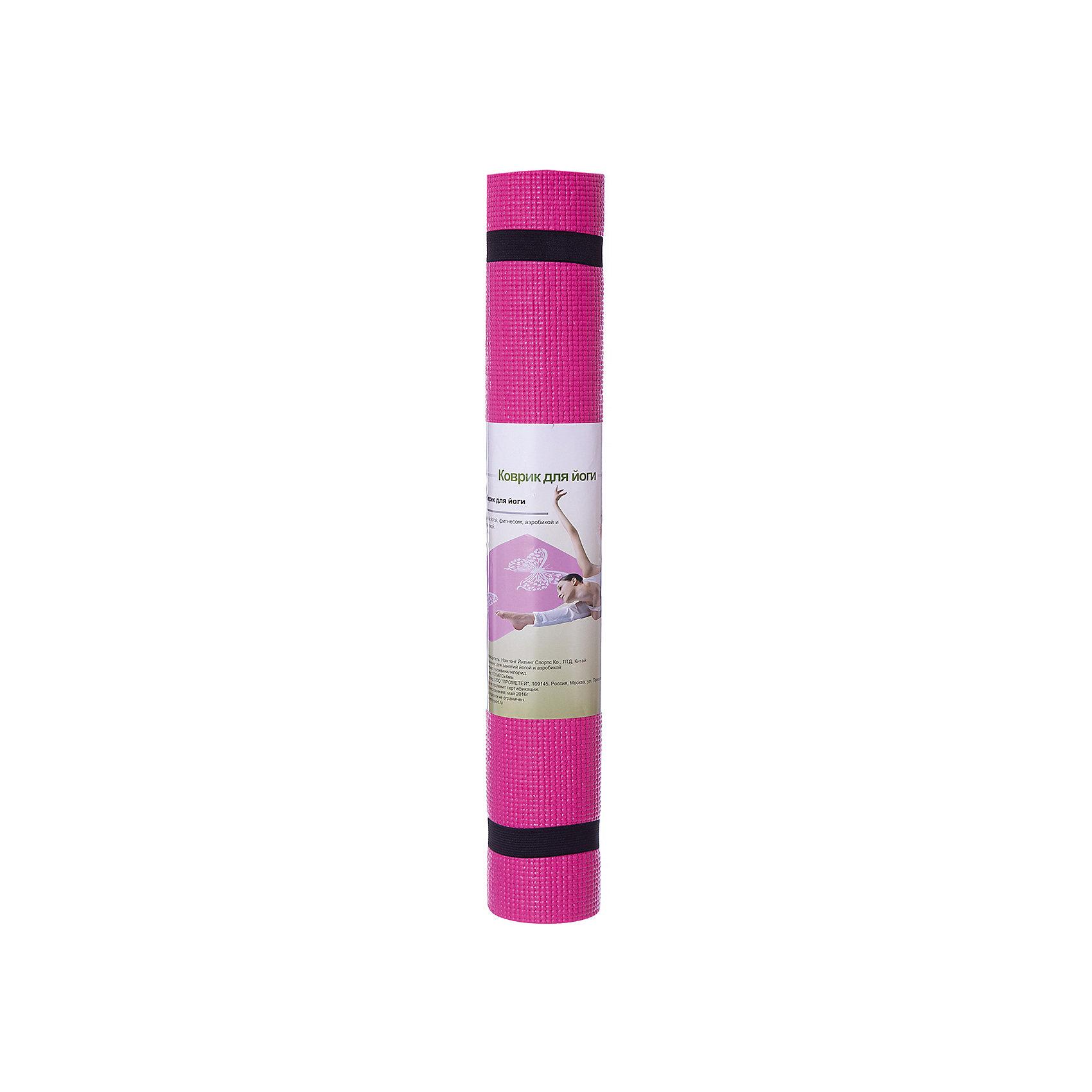 Коврик для йоги  ВВ8300, Z-Sports, розовыйСпортивные коврики<br>Основные характеристики<br><br>Материал: поливинилхлорид<br>Размер: 172х61х0,4см<br>Вес: 0,94кг<br>Цвета в ассортименте (розовый, фиолетовый, салатовый)<br>Вид применения: для занятий йогой, фитнесом, гимнастикой и аэробикой<br>Страна-производитель: Китай<br>Упаковка: термоусадочная пленка с цветным постером<br><br>Изделие изготовлено из современного материала, мягкого, но одновременно достаточно прочного, способного выдержать сильные механические нагрузки. Коврик без дополнительных приспособлений жестко фиксируется на самой гладкой поверхности, не скользит и приятен на ощупь. Его эстетические параметры вполне соответствуют современным требованиям - на поверхности имеются рисунки. Применяется для занятий йогой, фитнесом и аэробикой как в домашних условиях, так и в спортзалах. <br><br>Преимущества коврика BB8300:<br>- противоскользящая поверхность;<br>- оптимальный размер и вес;<br>- приятный современный дизайн и расцветка;<br>- его легко мыть и хранить, скатав в рулон.<br><br>Ширина мм: 100<br>Глубина мм: 100<br>Высота мм: 610<br>Вес г: 1000<br>Возраст от месяцев: 36<br>Возраст до месяцев: 192<br>Пол: Унисекс<br>Возраст: Детский<br>SKU: 5512947