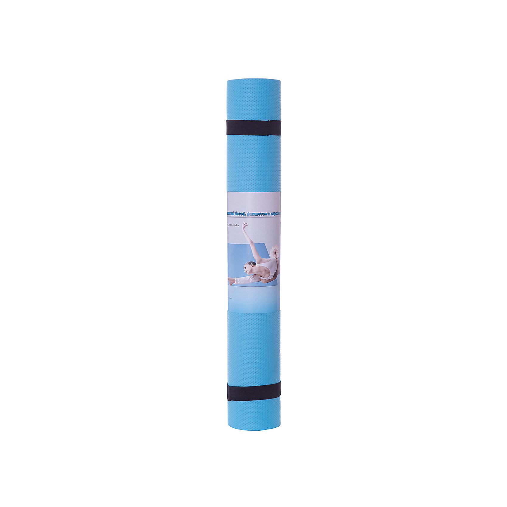 Коврик для йоги  ВВ8310, Z-Sports, голубойСпортивные коврики<br>Основные характеристики<br><br>Материал: EVA (этил-винил-ацетат)<br>Размер: 173х61х0,4см<br>Вес: 0,38кг<br>Цвета в ассортименте (фиолетовый, салатовый, голубой)<br>Вид применения: для занятий йогой, фитнесом, гимнастикой и аэробикой<br>Страна-производитель: Китай<br>Упаковка: термоусадочная пленка с цветным постером<br><br>Изделие изготовлено из современного материала, мягкого, но одновременно достаточно прочного, способного выдержать сильные механические нагрузки. Его эстетические параметры вполне соответствуют современным требованиям. Применяется для занятий йогой, фитнесом и аэробикой как в домашних условиях, так и в спортзалах. <br><br>Преимущества коврика BB8310:<br>- противоскользящая поверхность;<br>- оптимальный размер и вес;<br>- приятный современный дизайн и расцветка;<br>- его легко мыть и хранить, скатав в рулон.<br><br>Ширина мм: 100<br>Глубина мм: 100<br>Высота мм: 610<br>Вес г: 300<br>Возраст от месяцев: 36<br>Возраст до месяцев: 192<br>Пол: Унисекс<br>Возраст: Детский<br>SKU: 5512949