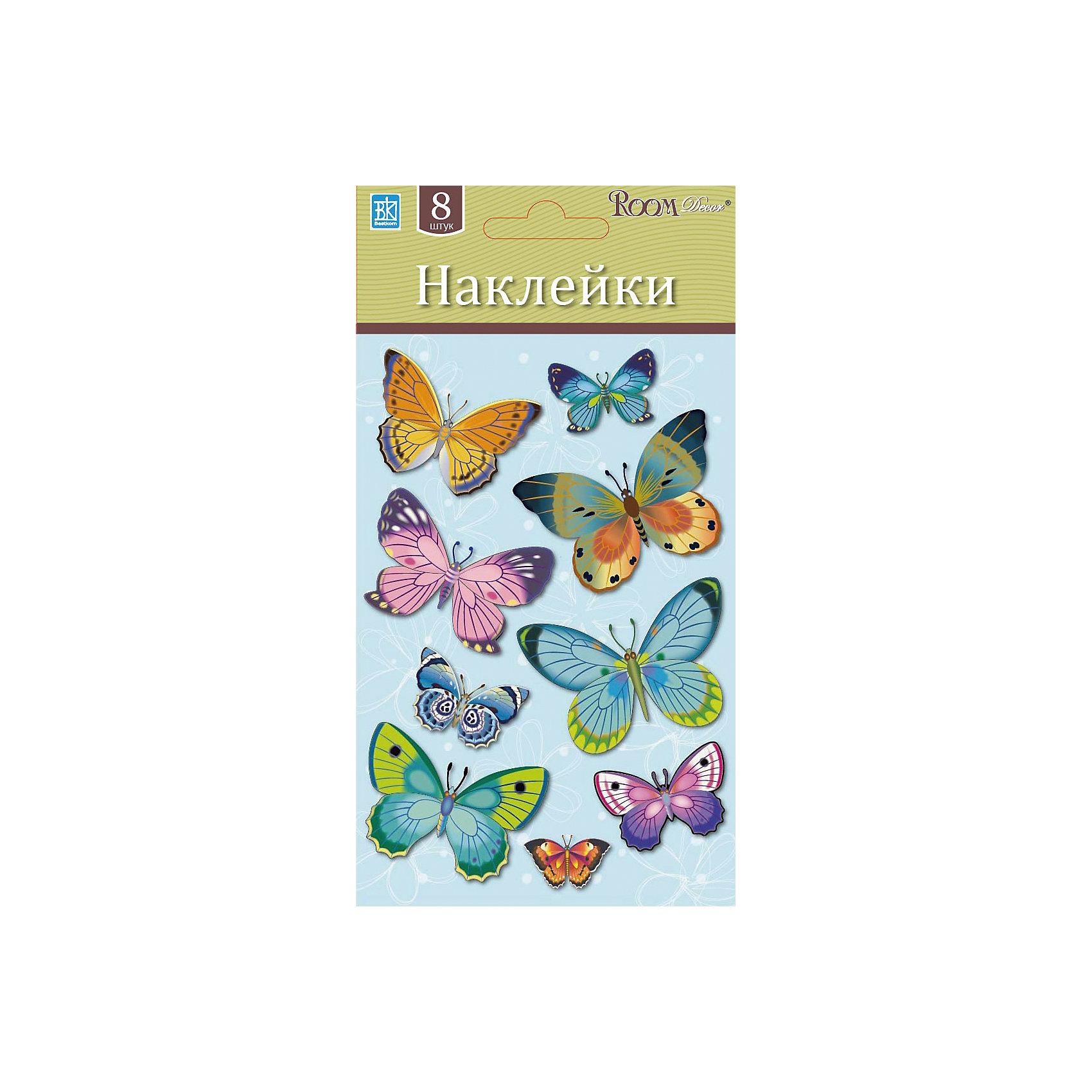 Наклейка Бабочки мини LCHPA 05007, Room Decor, разноцветный