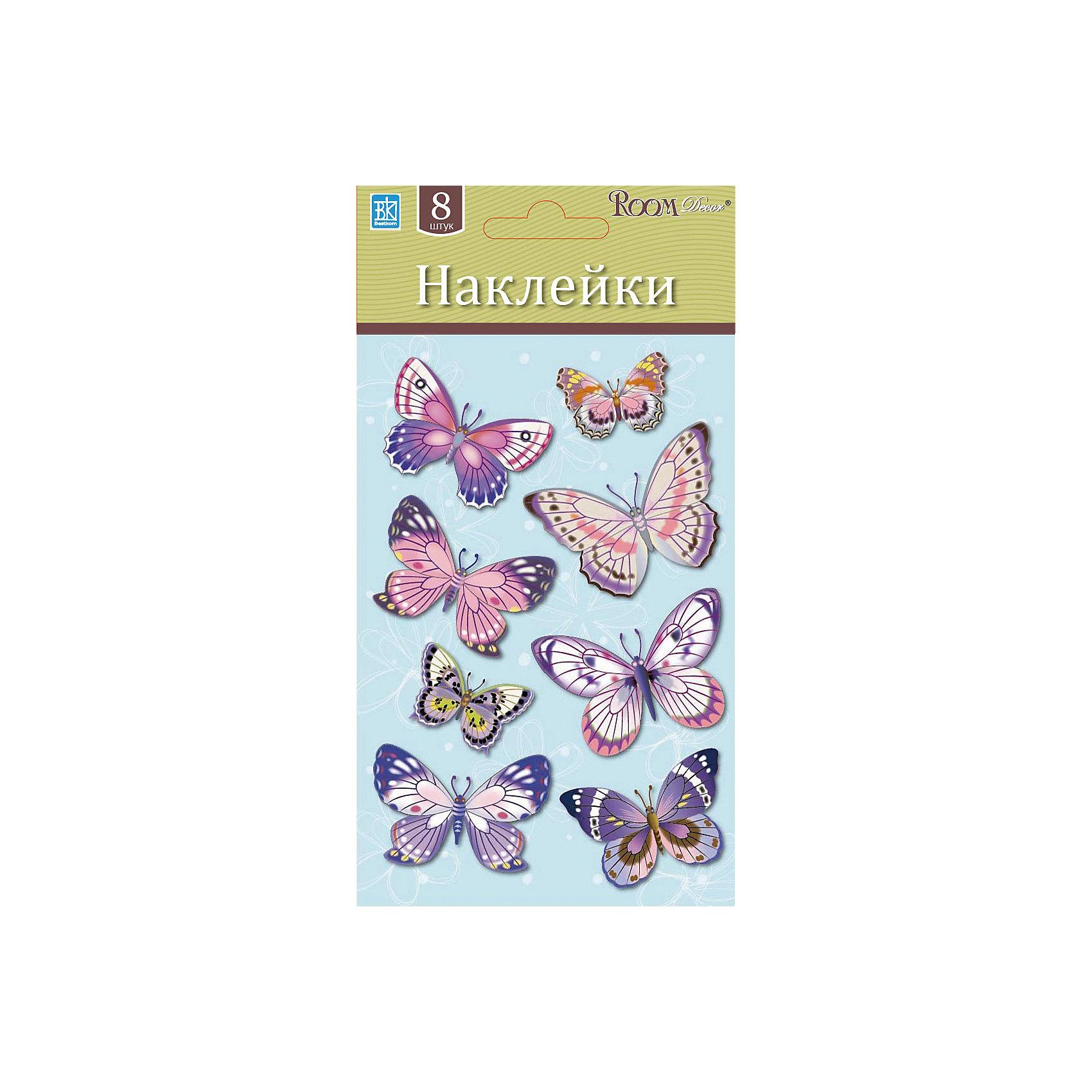 Бабочки мини LCHPA 05008, Room Decor, розовый от myToys