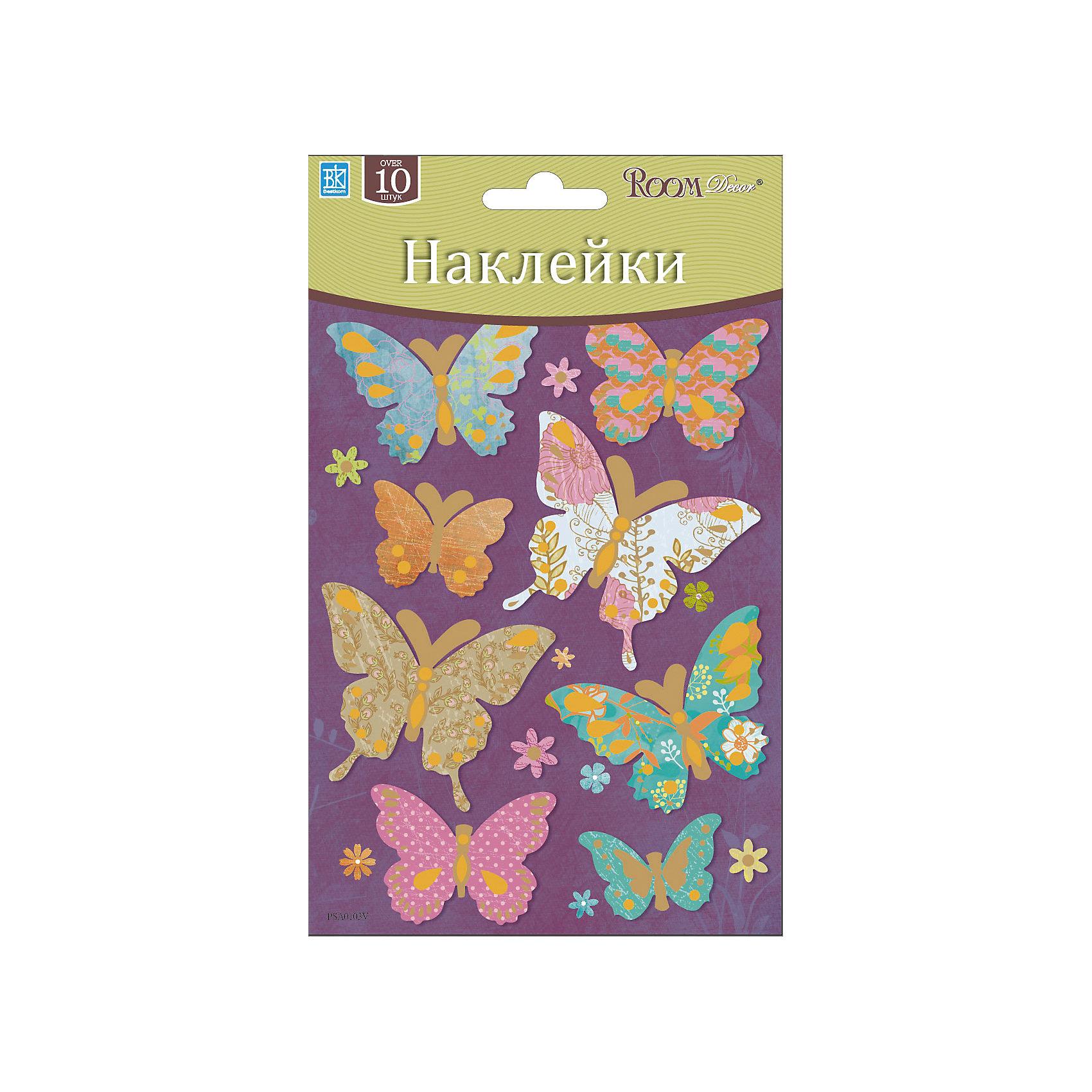 Наклейка Бабочки мини PSA 0103, Room Decor, цветные